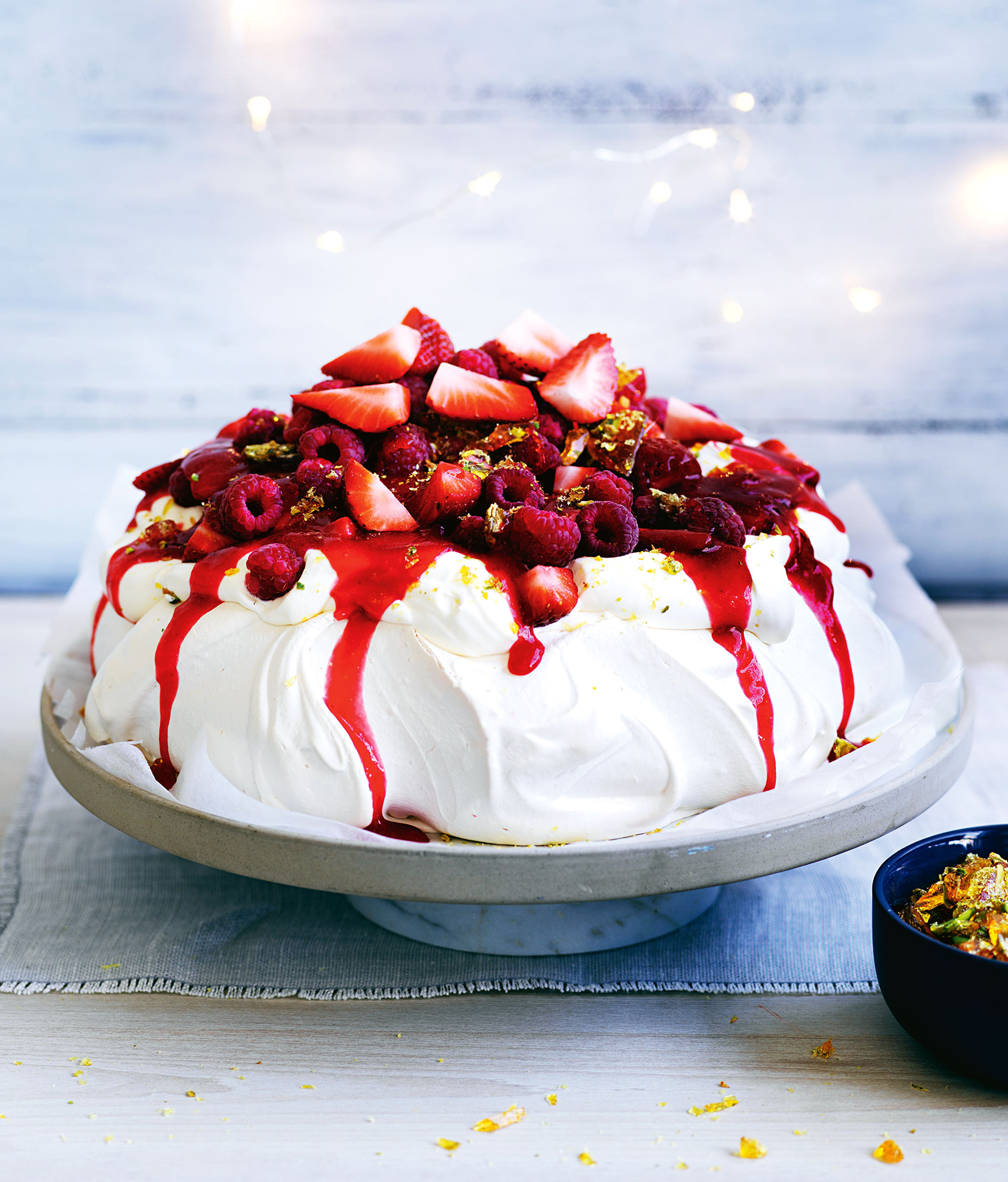 Neil Perry's Red berry pavlova
