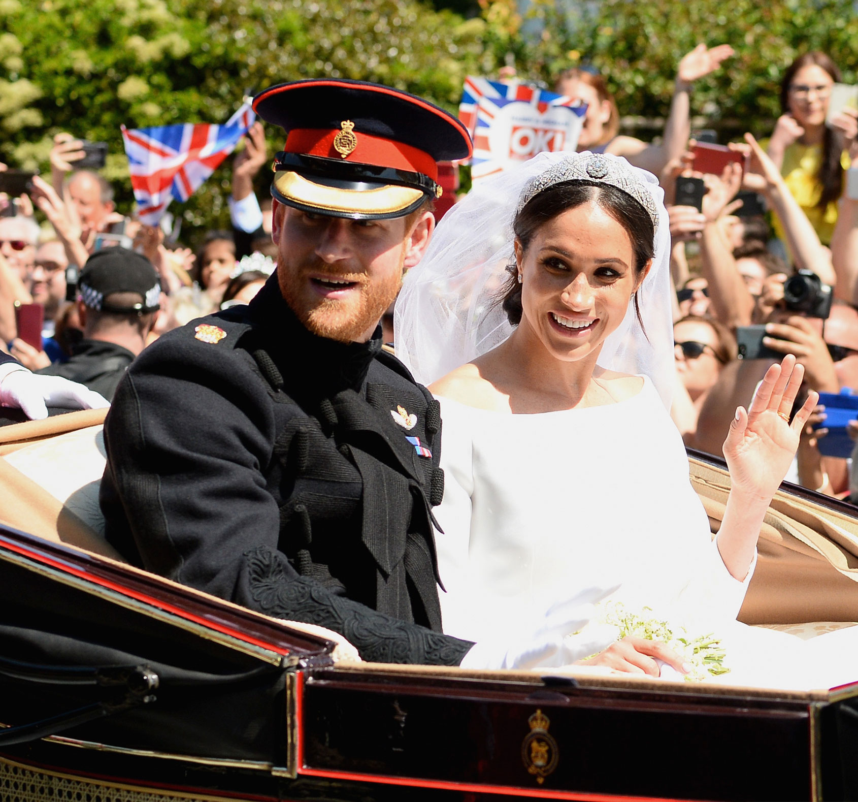 Harry and Meghan after the royal wedding
