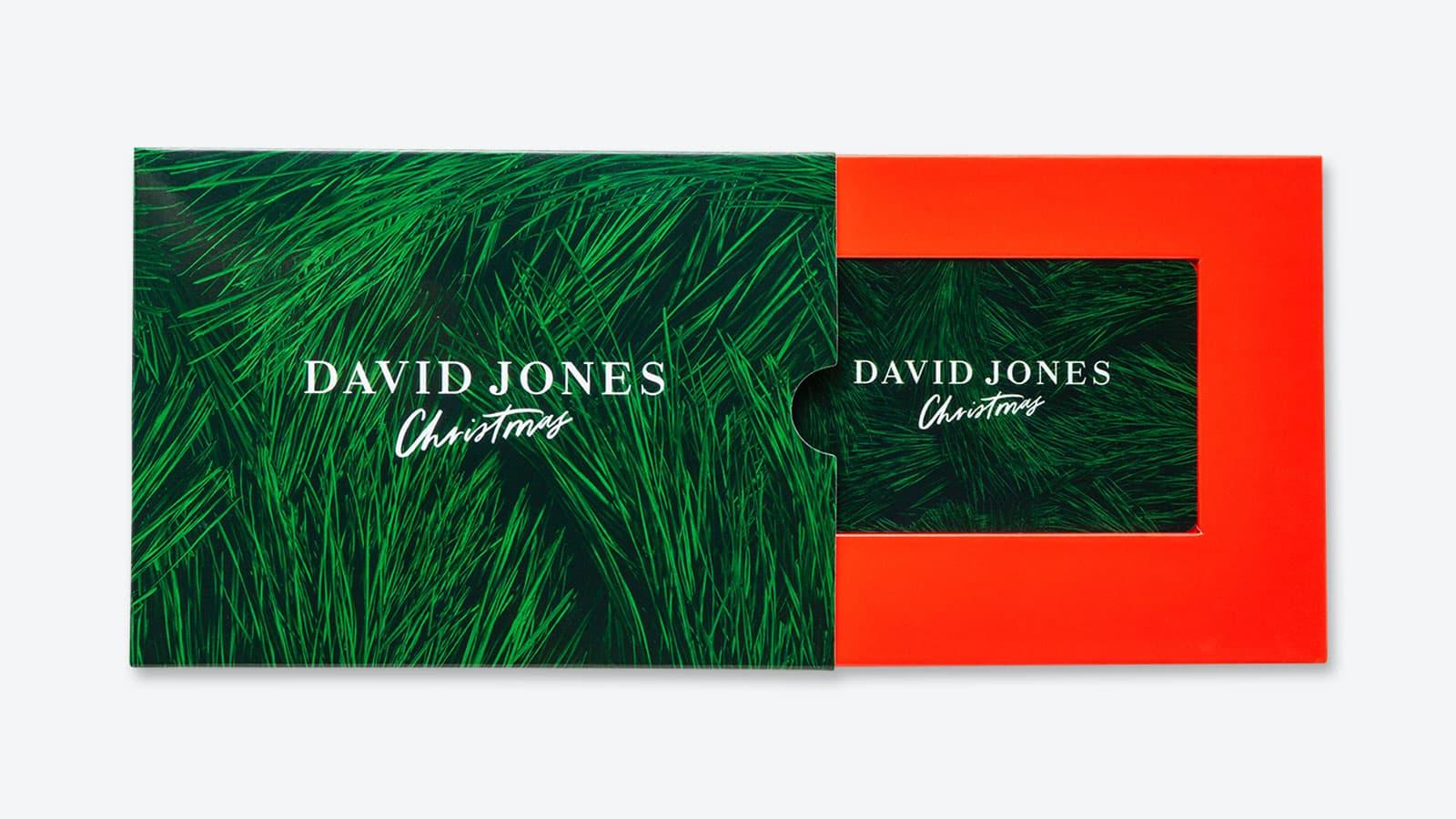 David Jones Christmas gift cards