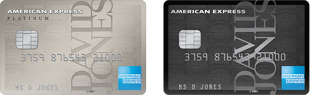 David Jones American Express cards