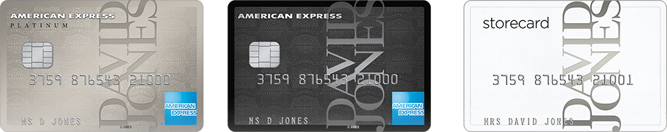 David Jones American Express Card Logo