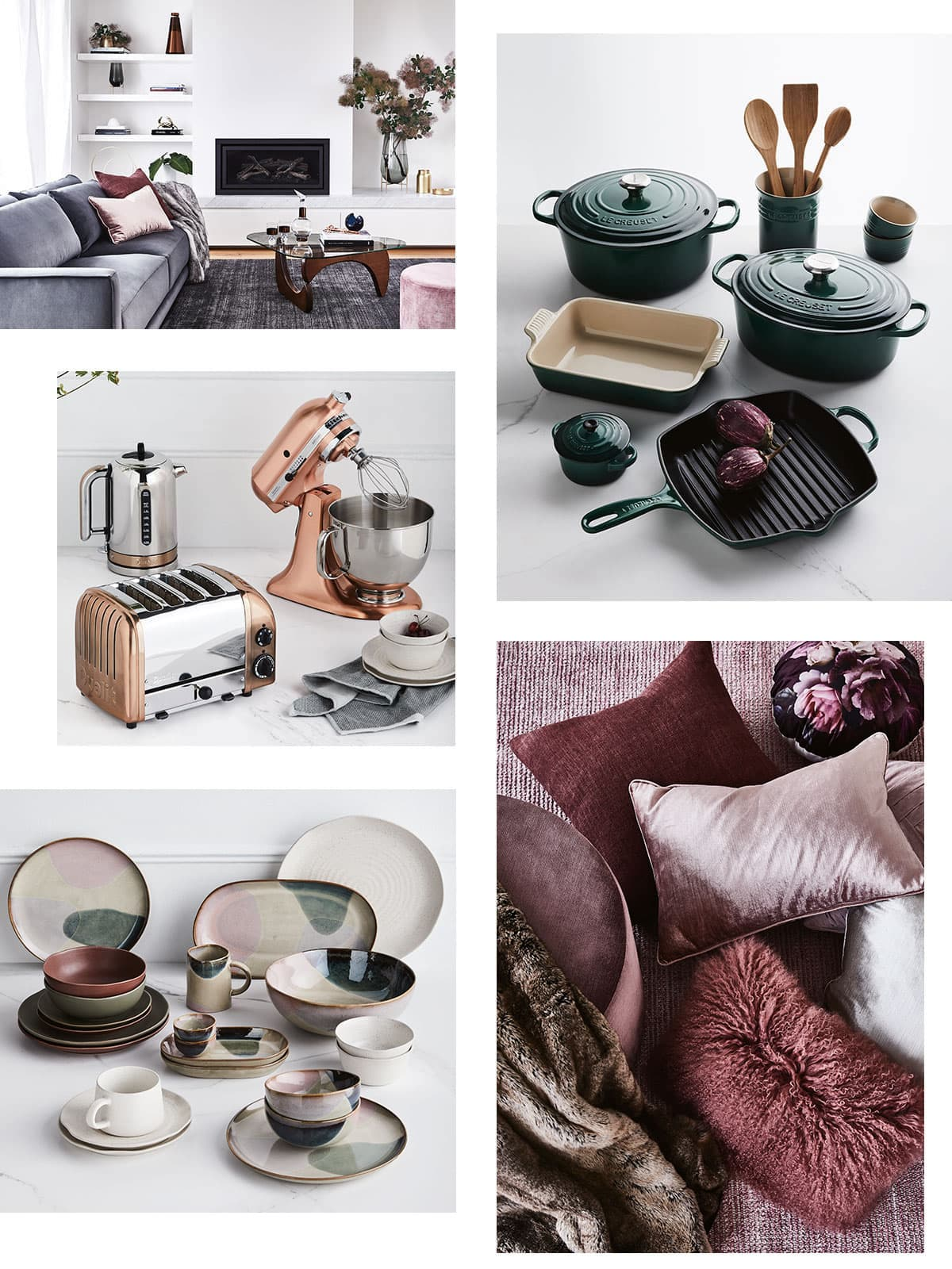 collage image from warm luxe