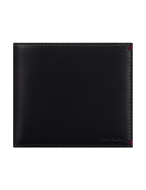 """PAUL SMITH MINI /""""Graphic Edge/"""" Leather Print Credit Card Case wallet"""