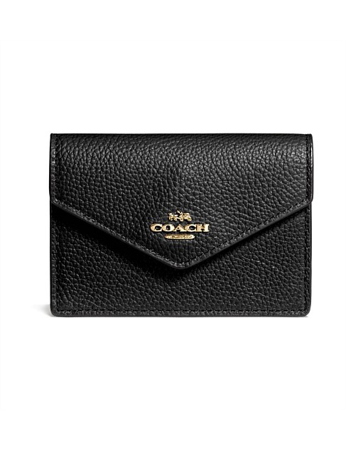 618f12a35024 Envelope Card Case In Pebble Leather