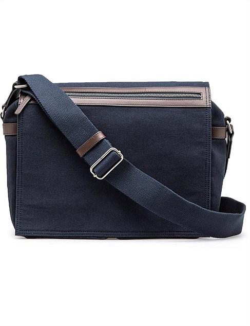 Men s Satchels   Messenger Bags   Bags Online   David Jones - Benjamin  Canvas Messenger 20ad6afee0