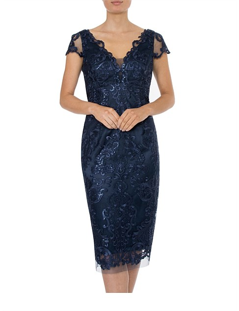 b3cf8651b07 MIDNIGHT SEQUIN   LACE DRESS Special Offer
