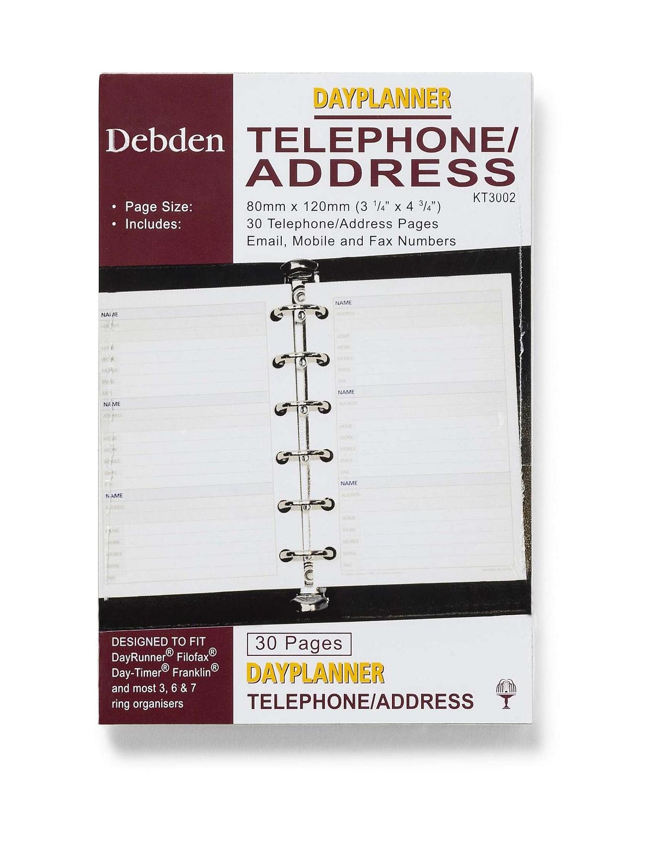 telephone address book
