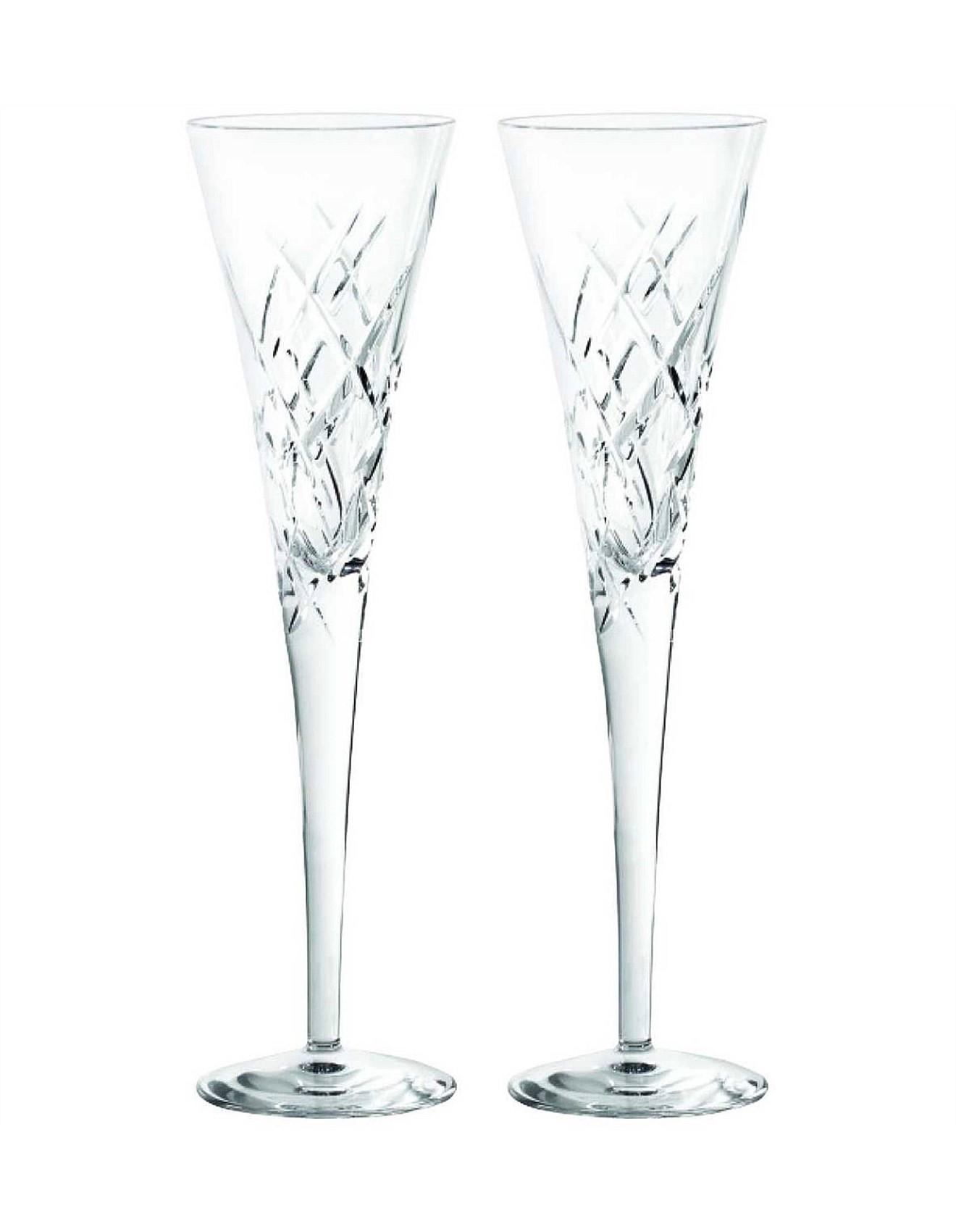 Vera Wedgwood Sse Encore Crystal Flute Pair