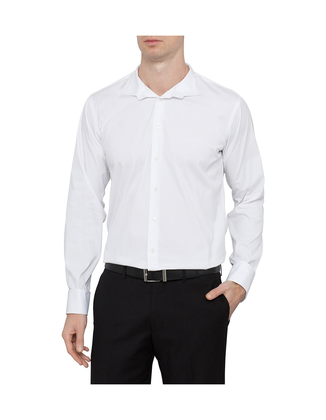 Slim Fit Wing Collar Business Shirt