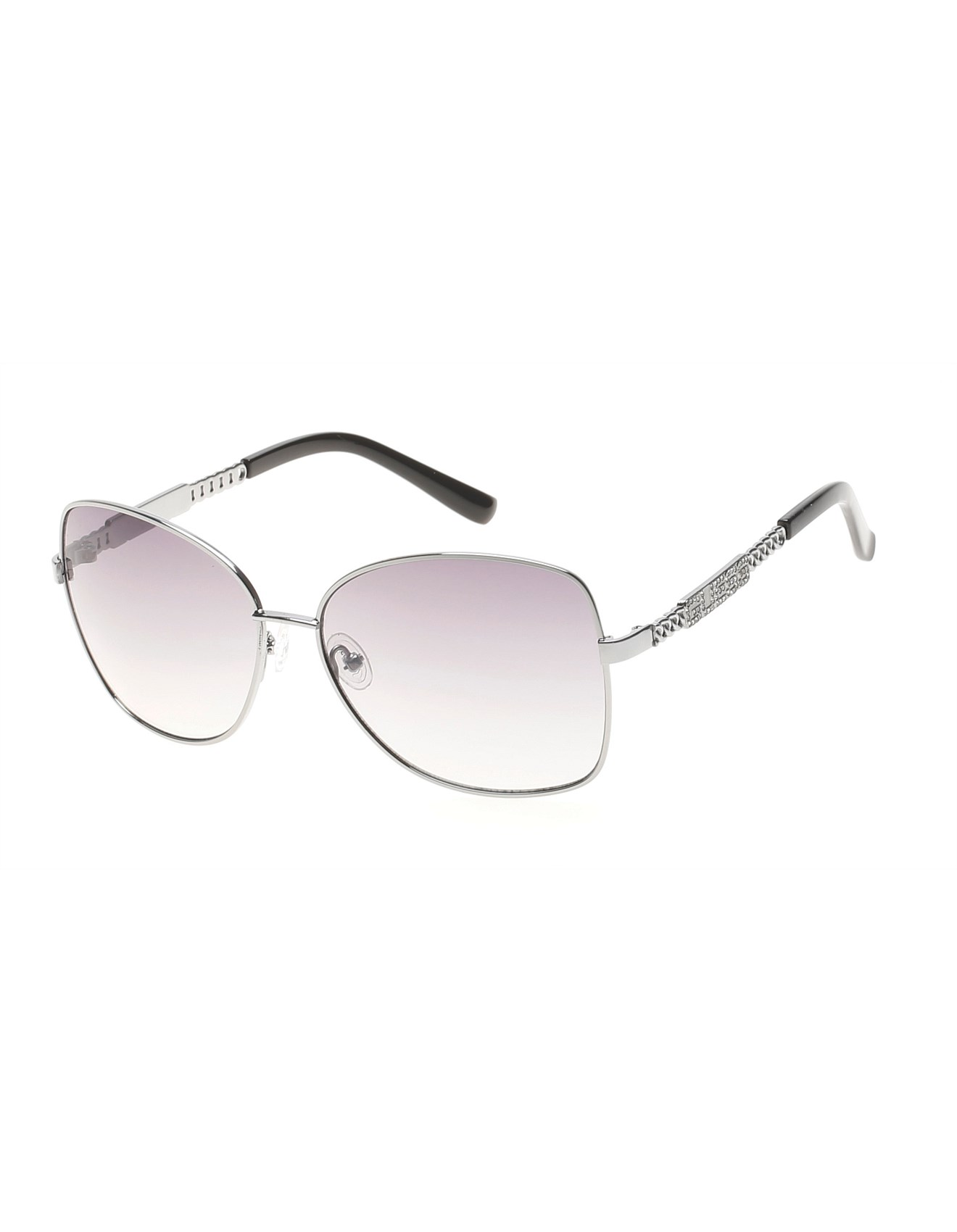 25817241e022 GUESS WOMENS BUTTERFLY METAL SUNGLASSES