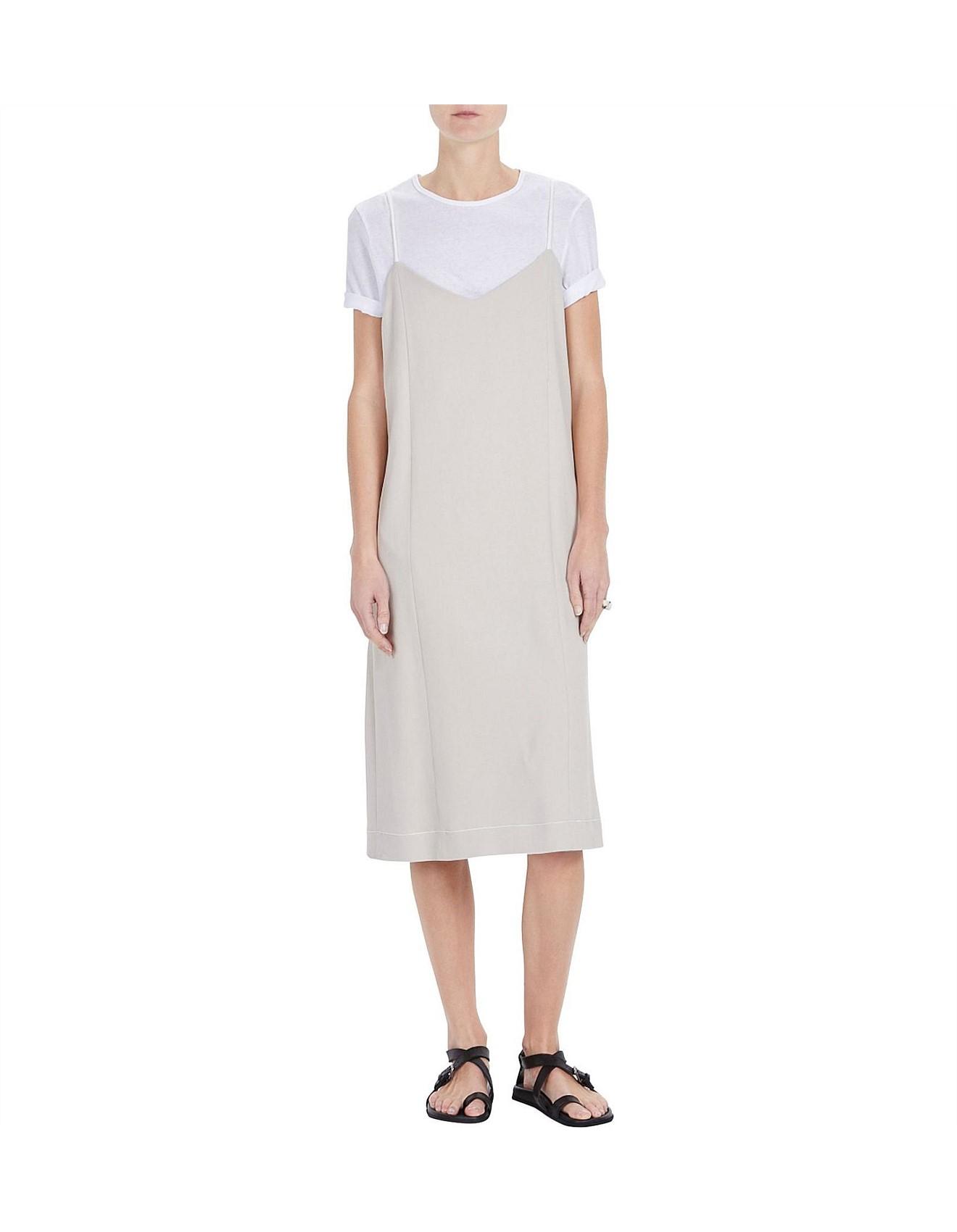 cca5e7d5d Viscose Twill Drawstring Dress