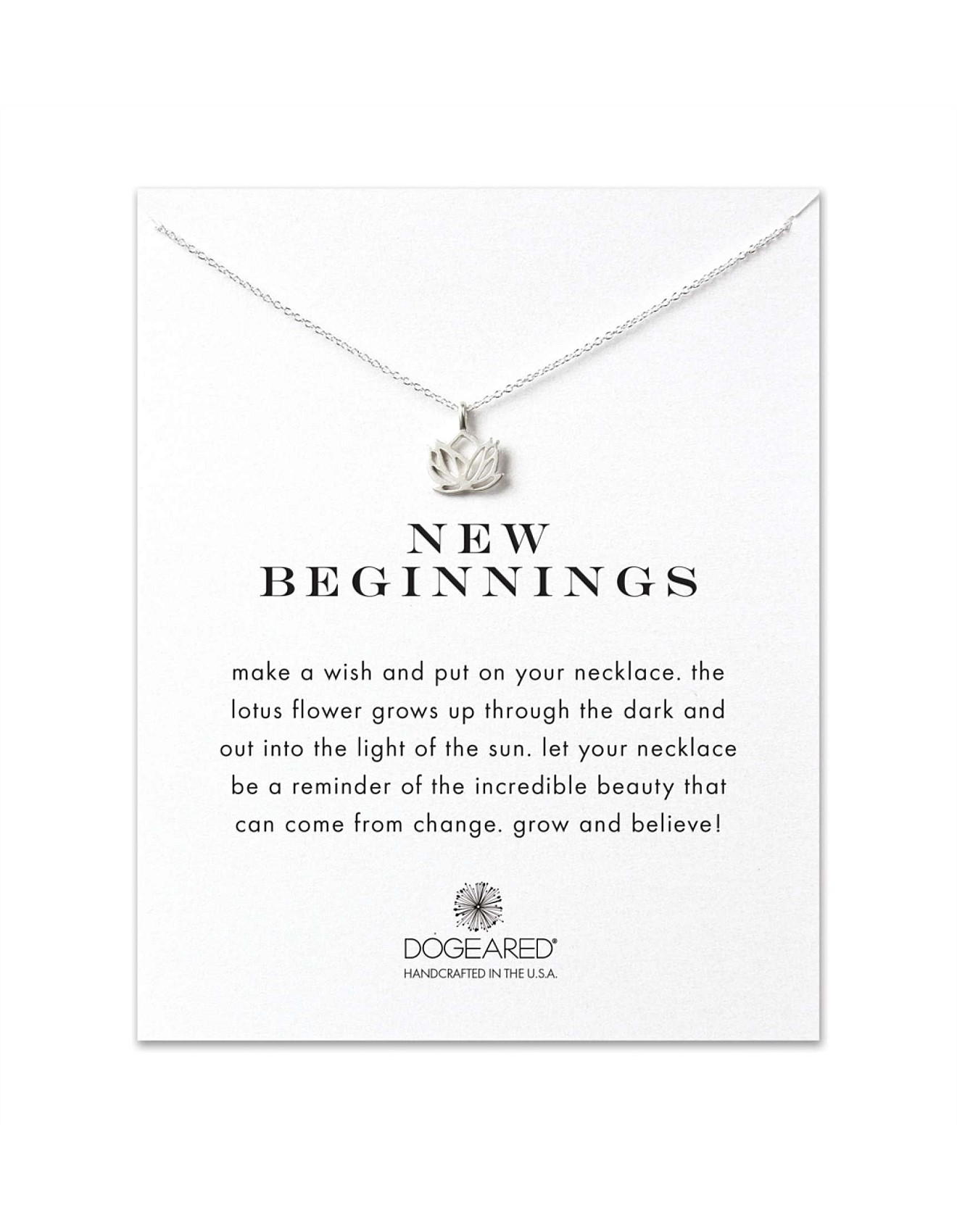 New Beginnings Reminder Necklace