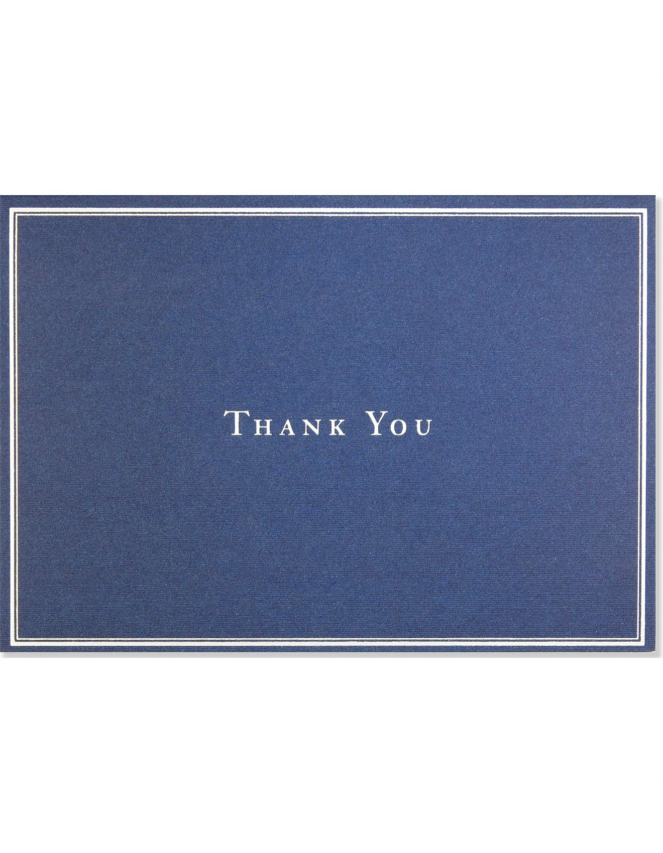 14 Pack Silver Navy Thankyou Cards