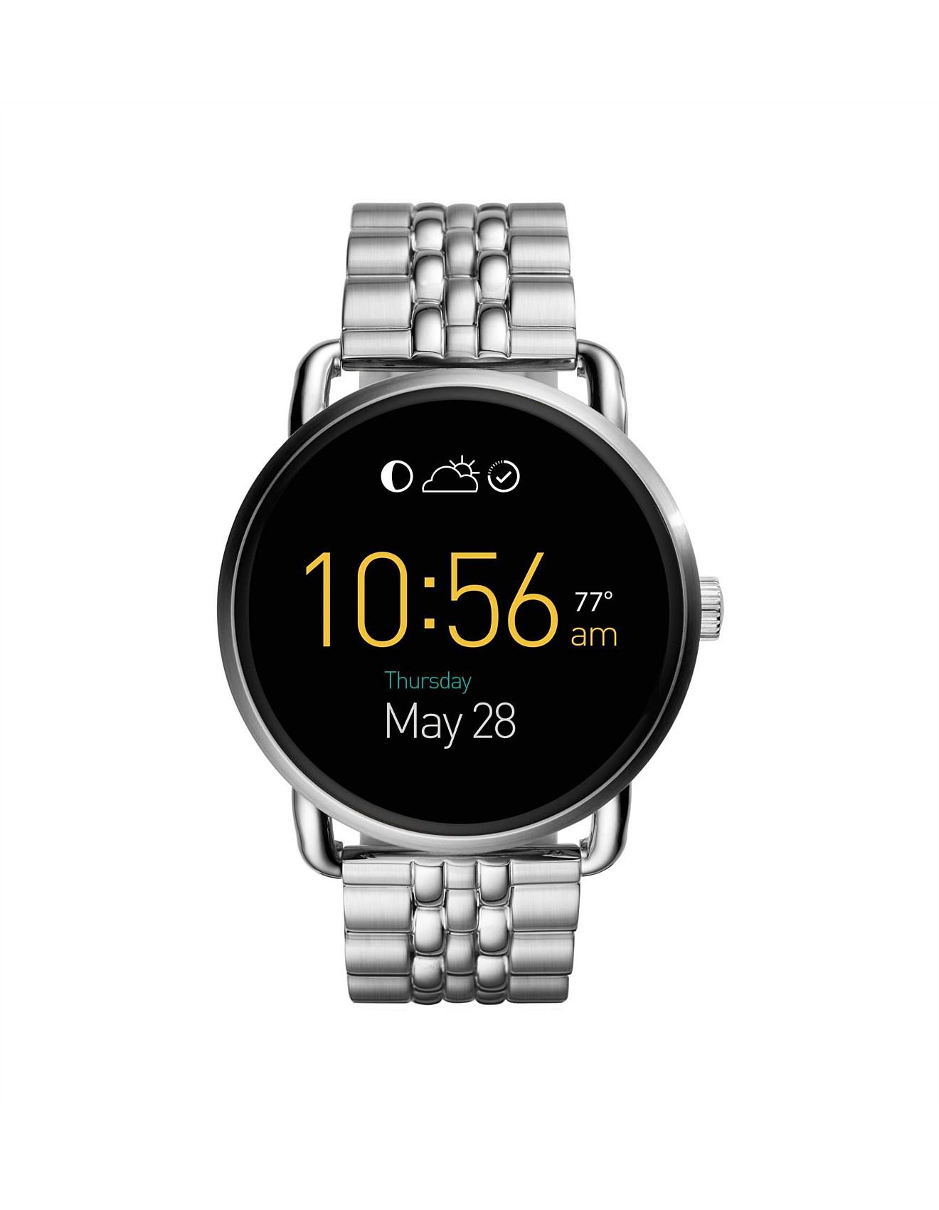 823ee77d2784 Q Wander Touchscreen Stainless Steel Smartwatch
