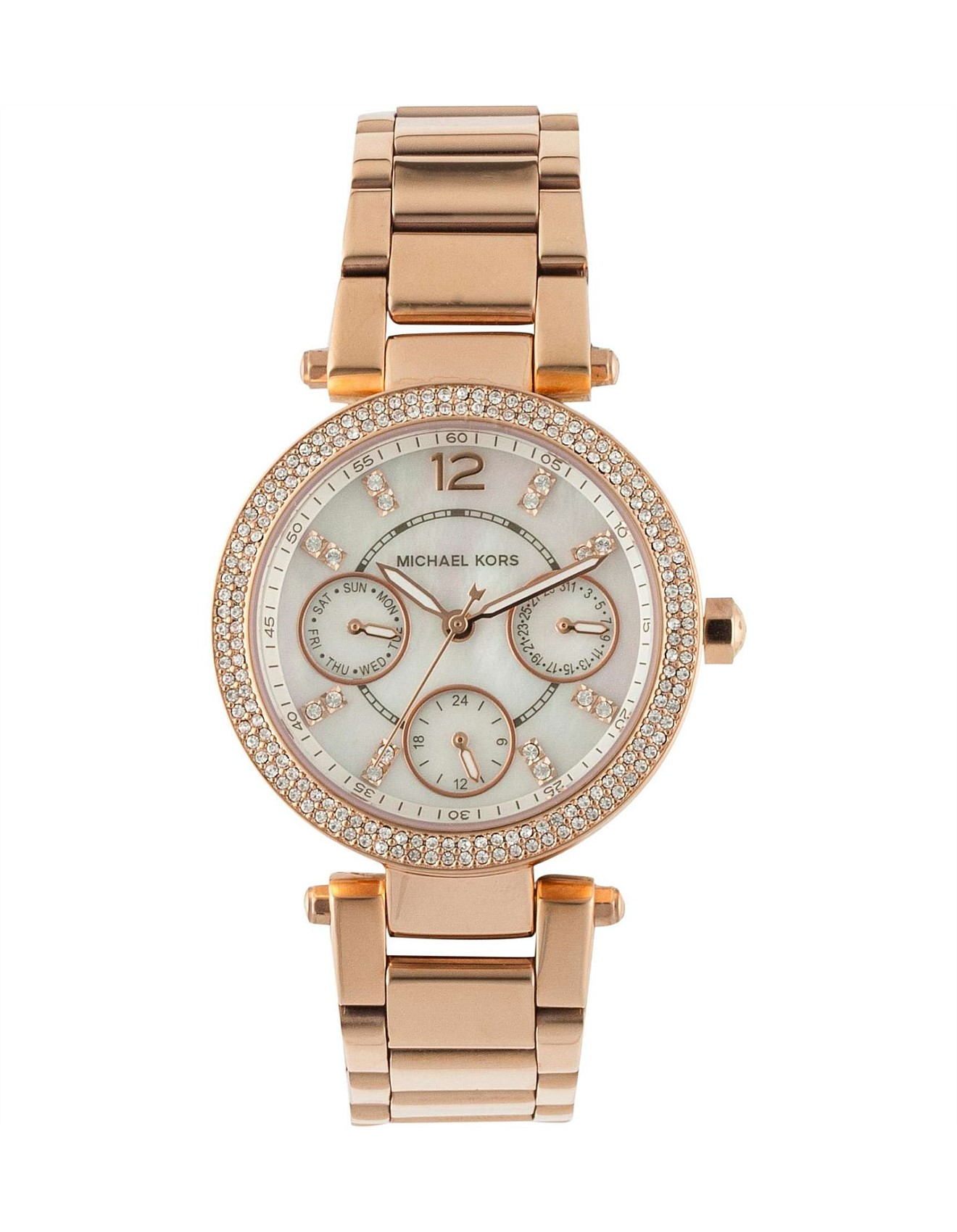 9aa8dcb4d258 Parker Pave Rose Gold-Tone Watch
