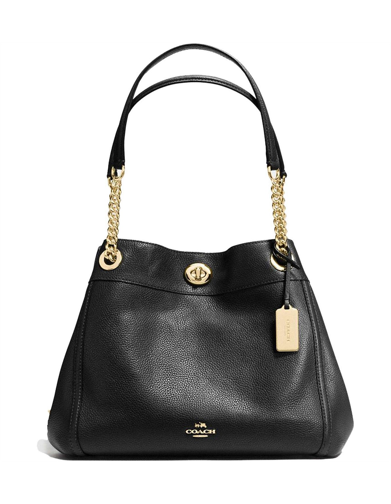 0fbf7e35a498 TURNLOCK EDIE SHOULDER BAG IN POLISHED PEBBLE LEATHER