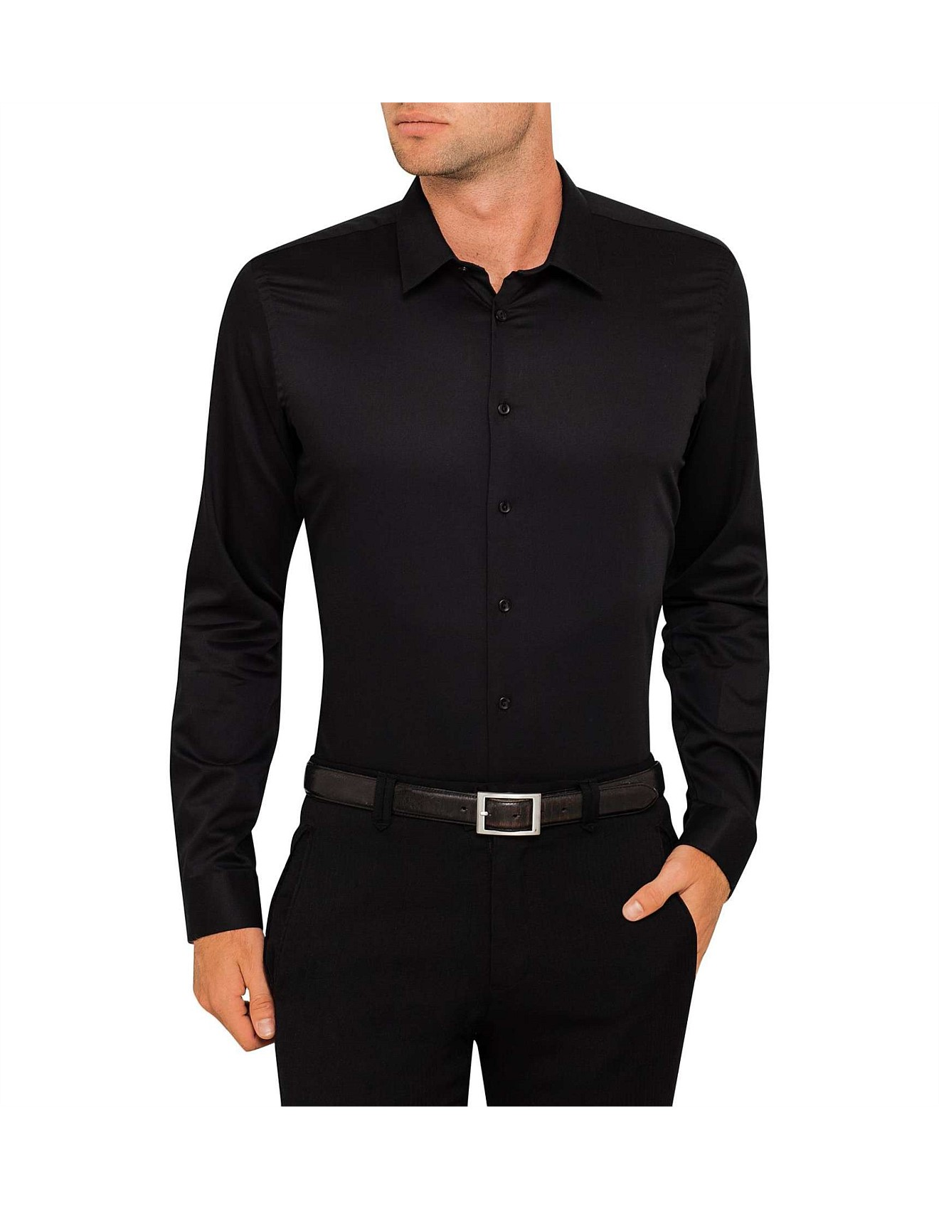 Men 39 s shirts casual shirts dress shirts david jones for Mens egyptian cotton dress shirts
