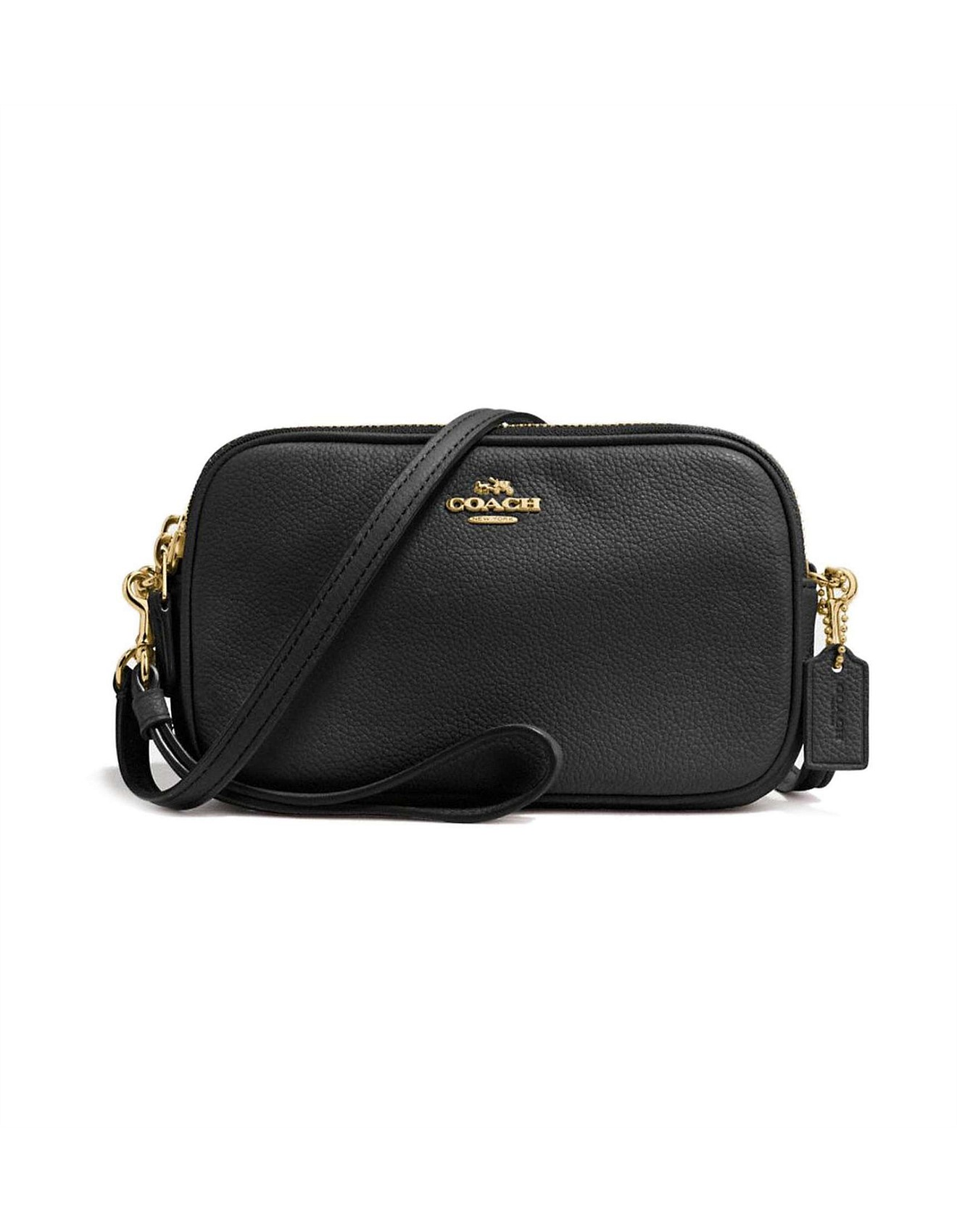 aa721ef1ab14 CROSSBODY CLUTCH IN POLISHED PEBBLE LEATHER