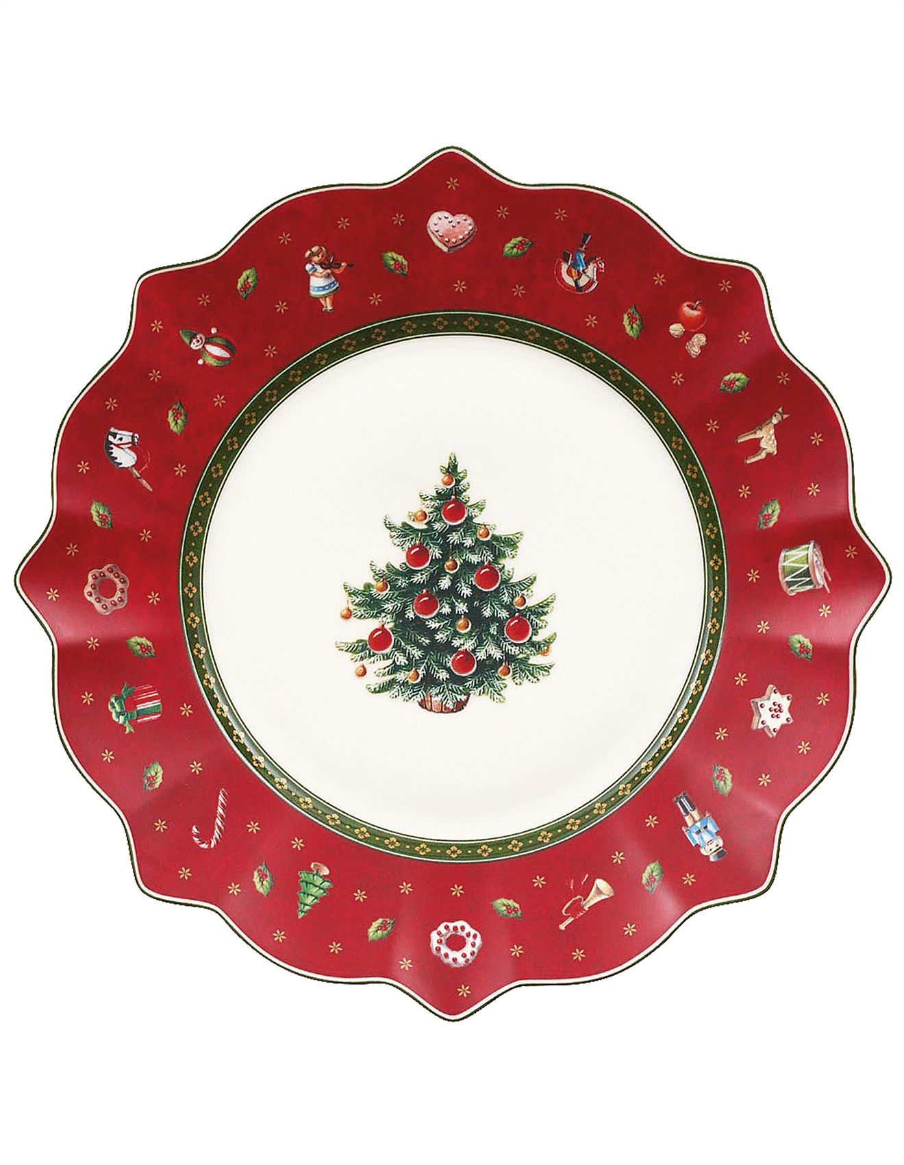 shop christmas trees decorations more online david jones toy 39 s delight salad plate red. Black Bedroom Furniture Sets. Home Design Ideas