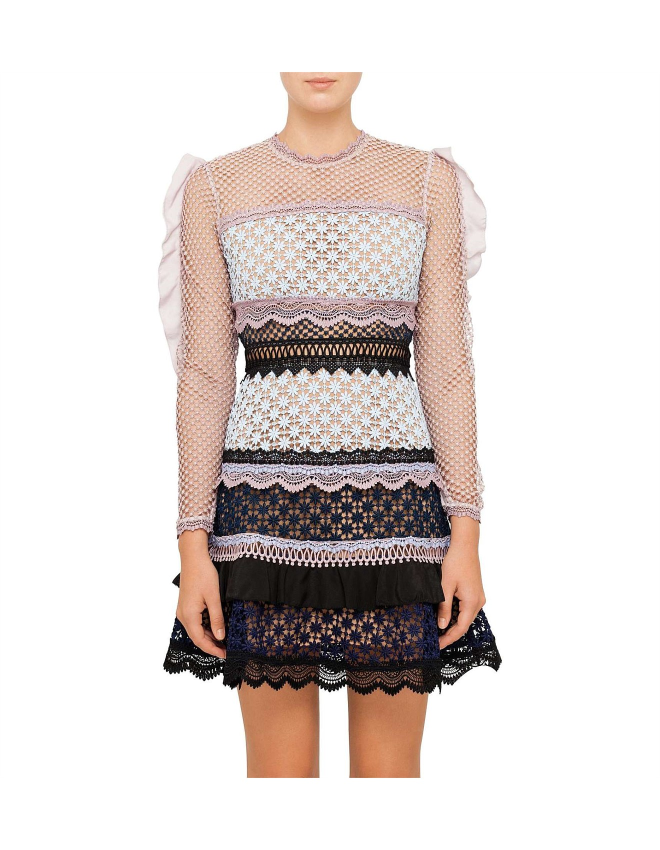 9db0f049c Bellis Lace Trim Dress With Frilled Sleeves