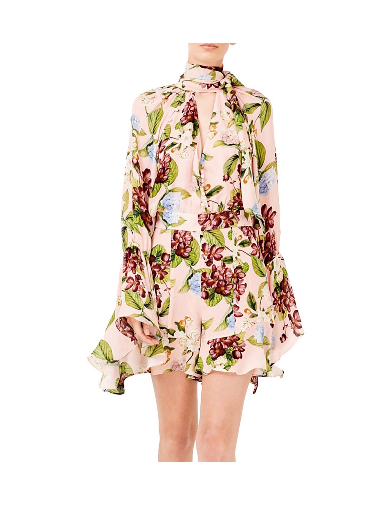 f45c07f229bb Evie Floral Bell Sleeve Dress