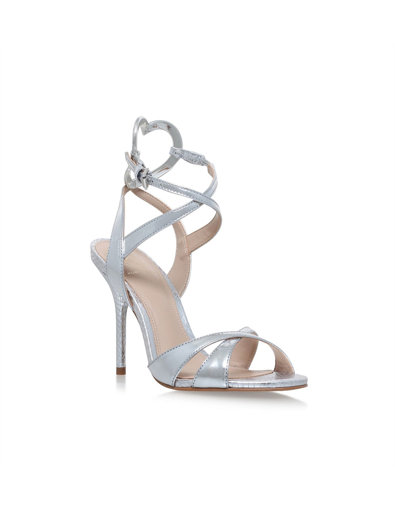 Heel Kurt Geiger Jina Sandals High Silver Kg IYWDE2H9