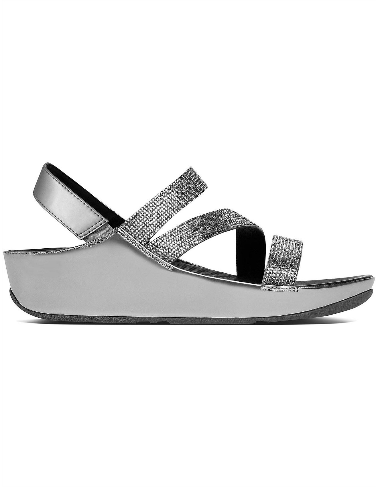 W Crystall Z-Strap Sandal Pewt FitFlop CMafWkf0a