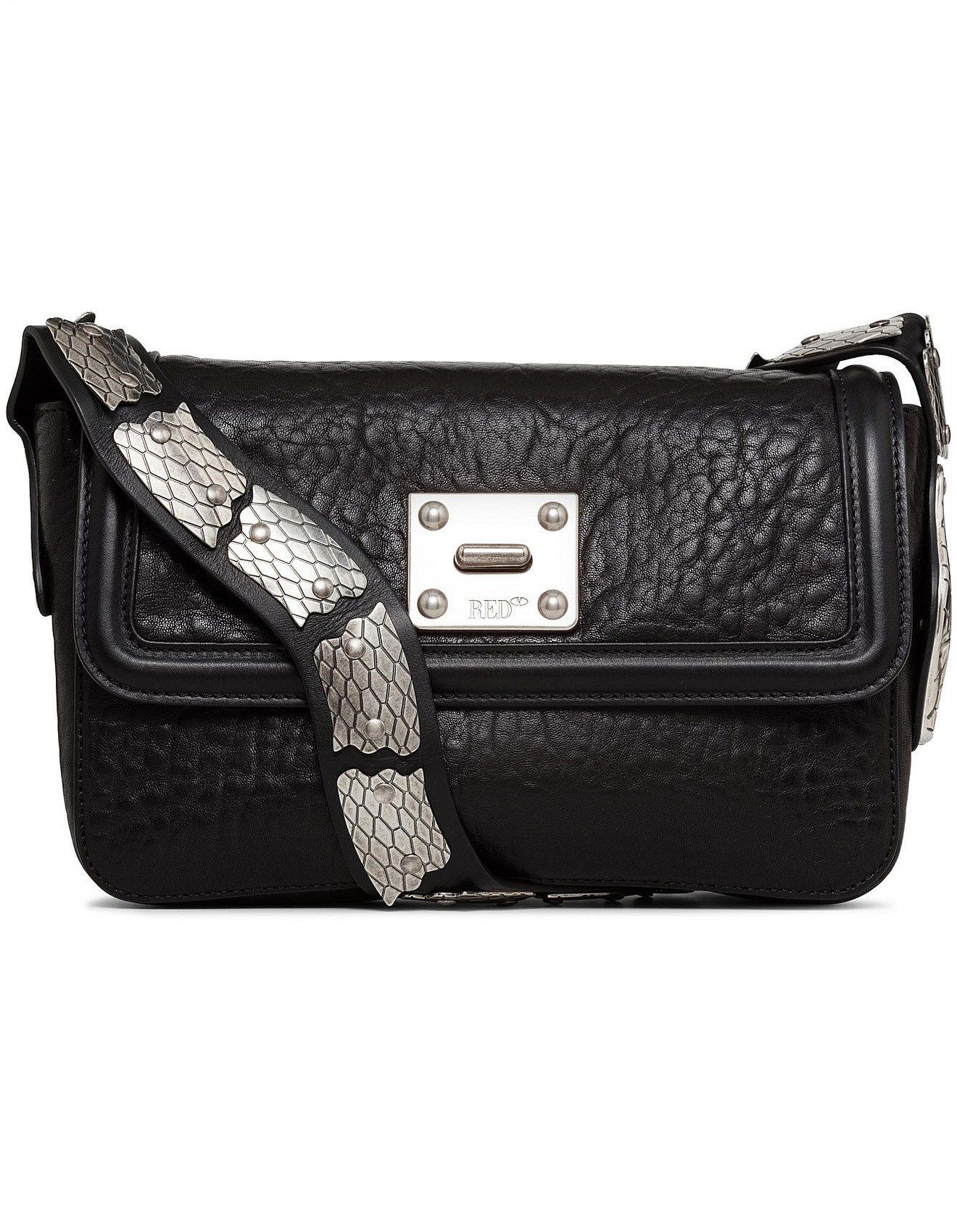 049ddfc44e2452 Snake Large Bubble Leather Bag