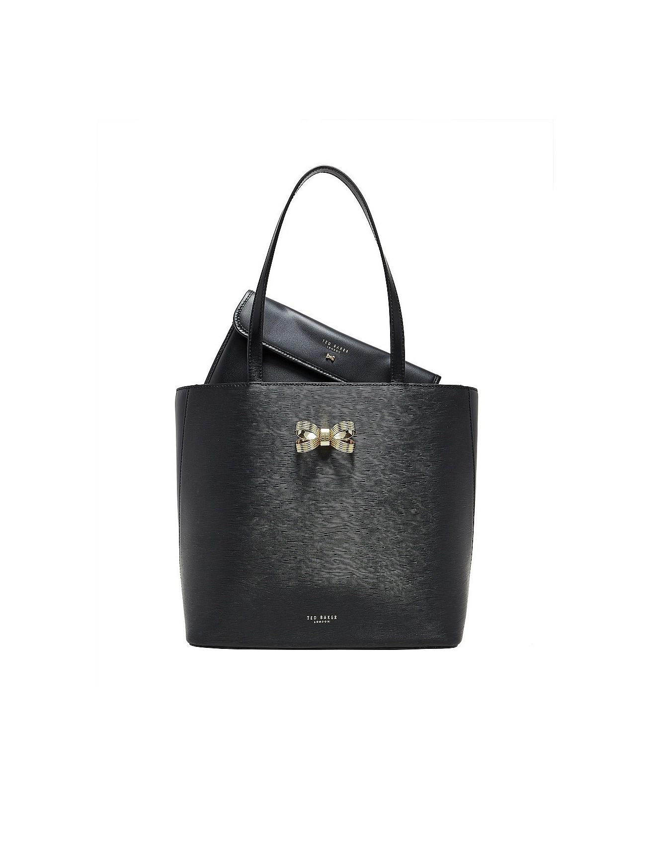 women 39 s bags handbags clutches tote bags online david jones looped bow shopper. Black Bedroom Furniture Sets. Home Design Ideas