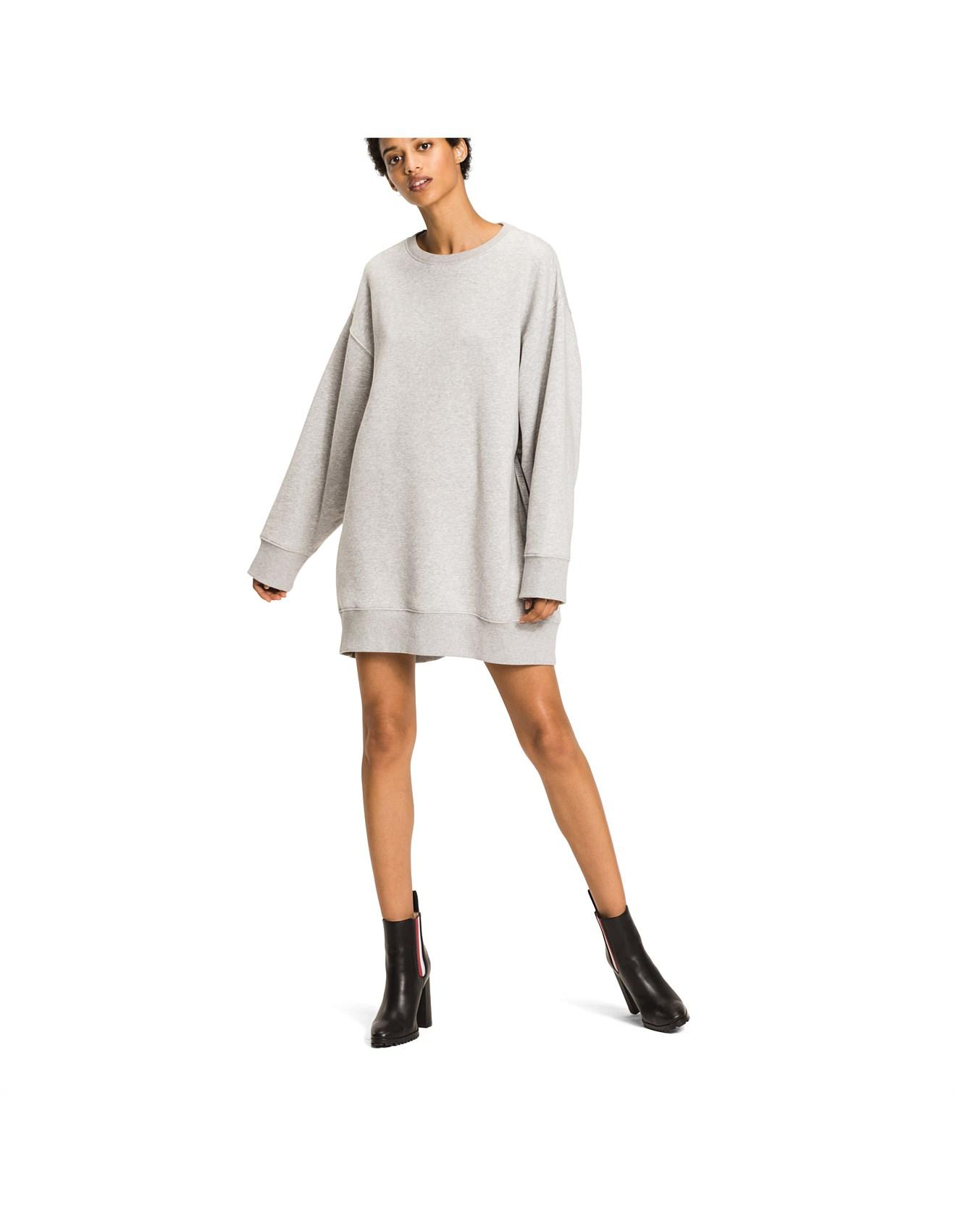 Gigi Hadid Open Back Sweatshirt Dress