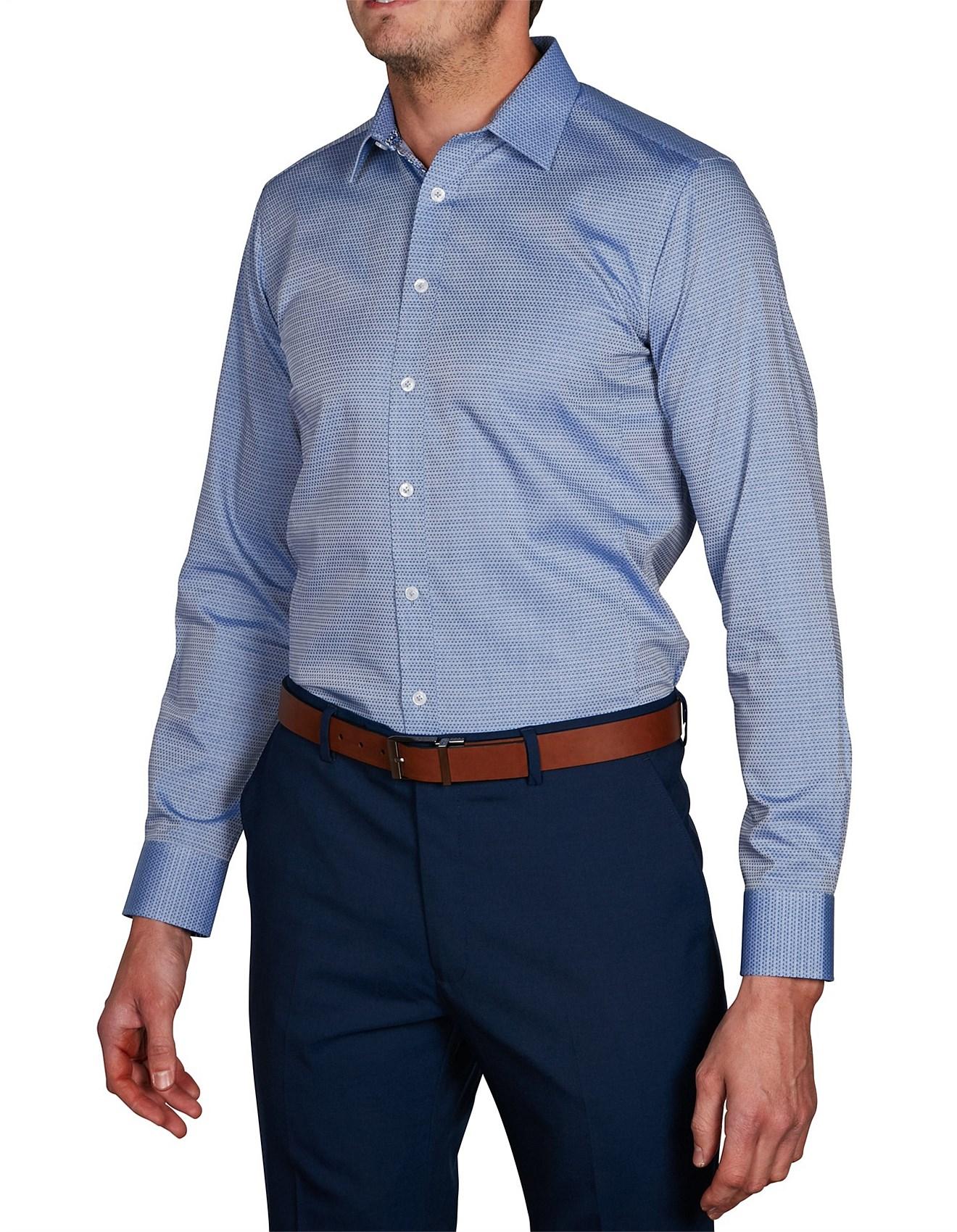 Men 39 s fashion clothing fashion accessories david for Super slim dress shirts