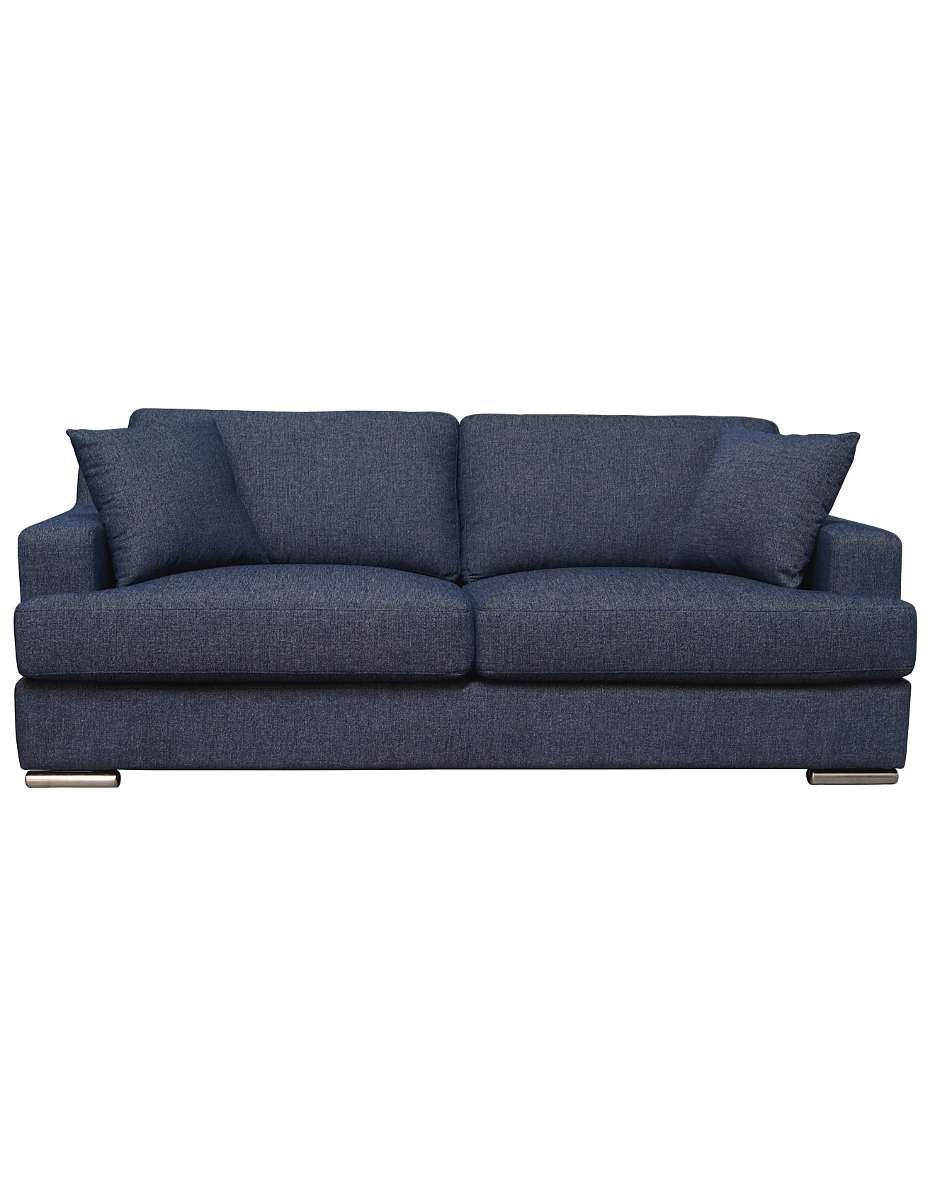 Savannah Double Sofabed Atom Blue Denim Fabric