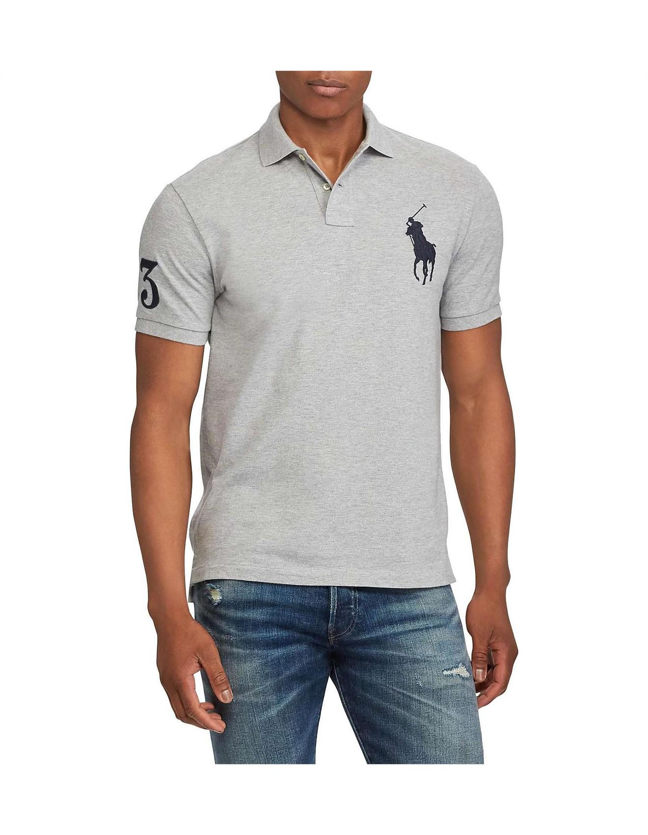 15972008 Men's Custom Slim Fit Mesh Polo