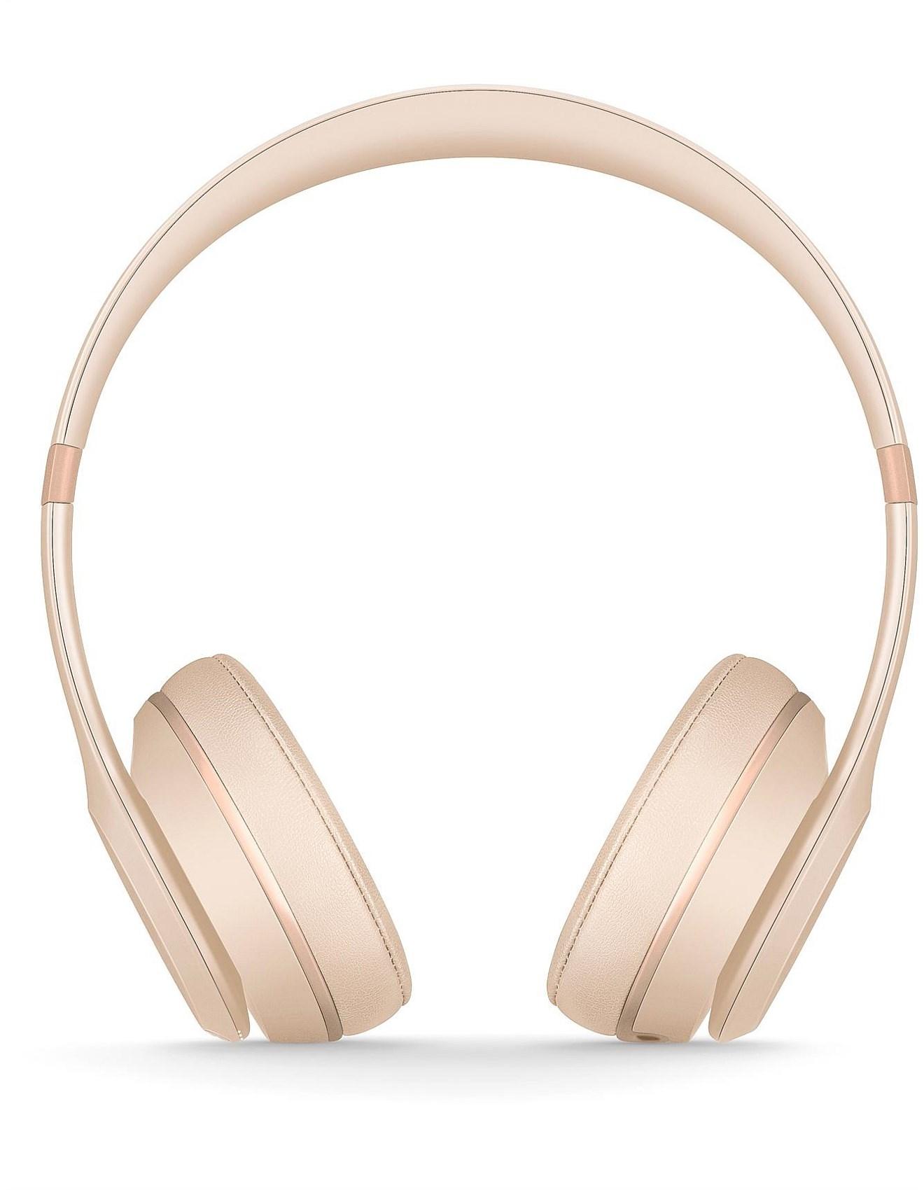 BEATS SOLO3 WIRELESS ON-EAR HEADPHONES - MATTE GOLD 5193f2ce75