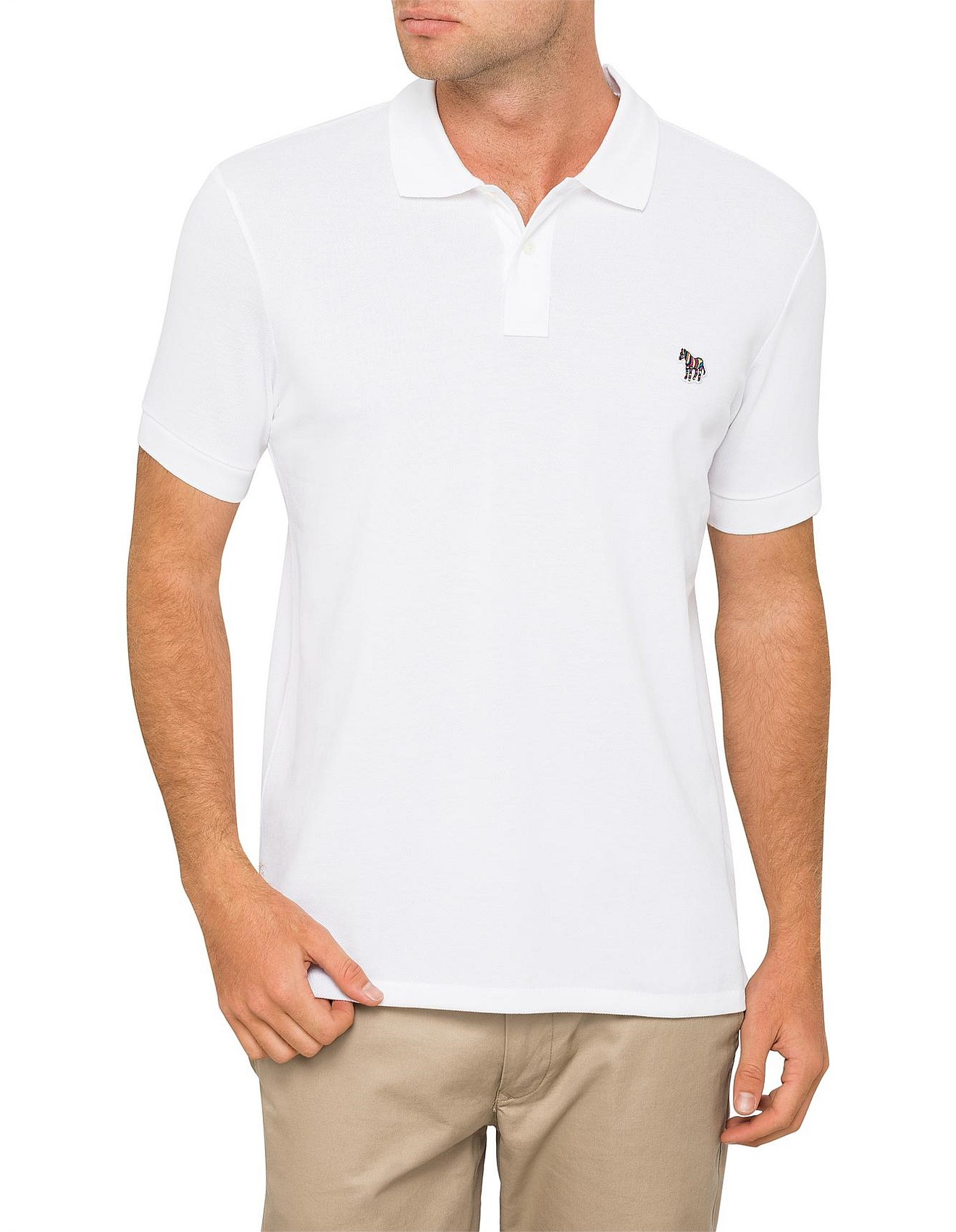 340f0f007072bc PS by PAUL SMITH Reg Fit Zebra SS Polo Shirt