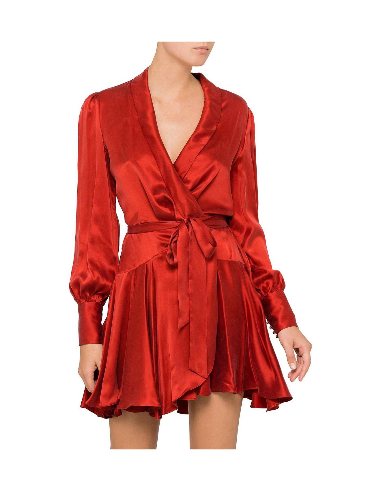 Women Wrap Mini Dress