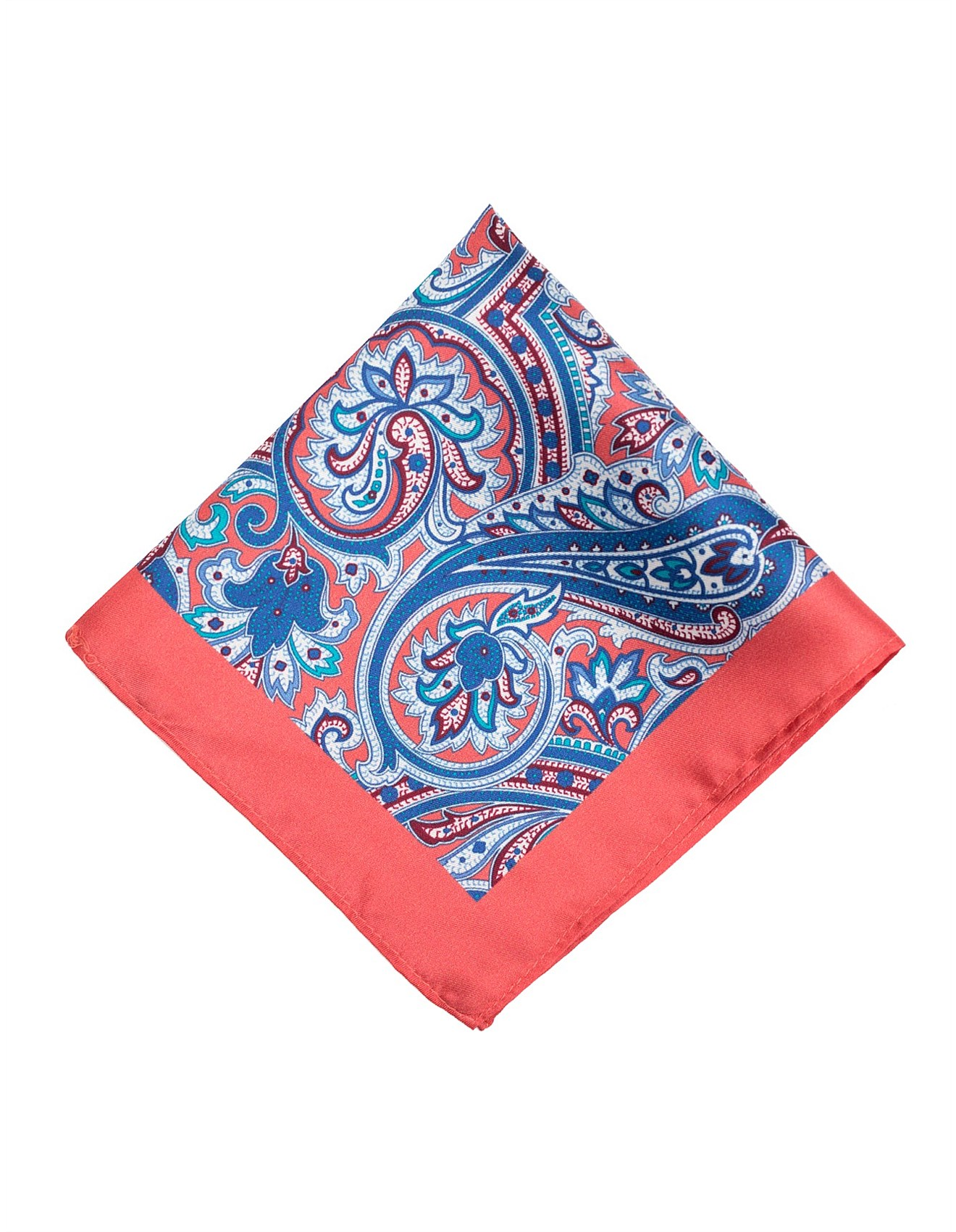 d0904c7482027 Ties & Pocket Squares Sale | Men's Suiting Accessories | David Jones -  PAISLEY PRINT SILK POCKET SQUARE