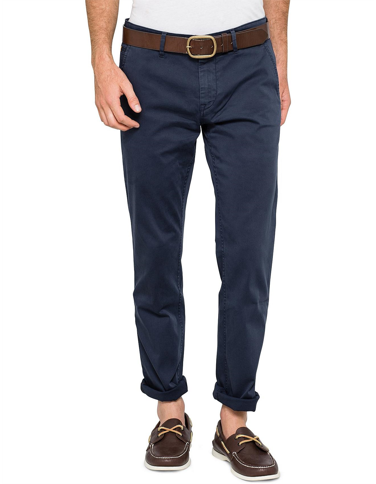 buying now fashionablestyle choose authentic Schino Slim-fit basic cotton chino pant