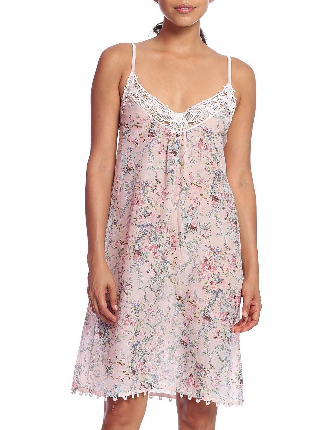 c2559b1024 Pyjamas   Sleepwear - Yolly Floral Lace Front Nightie