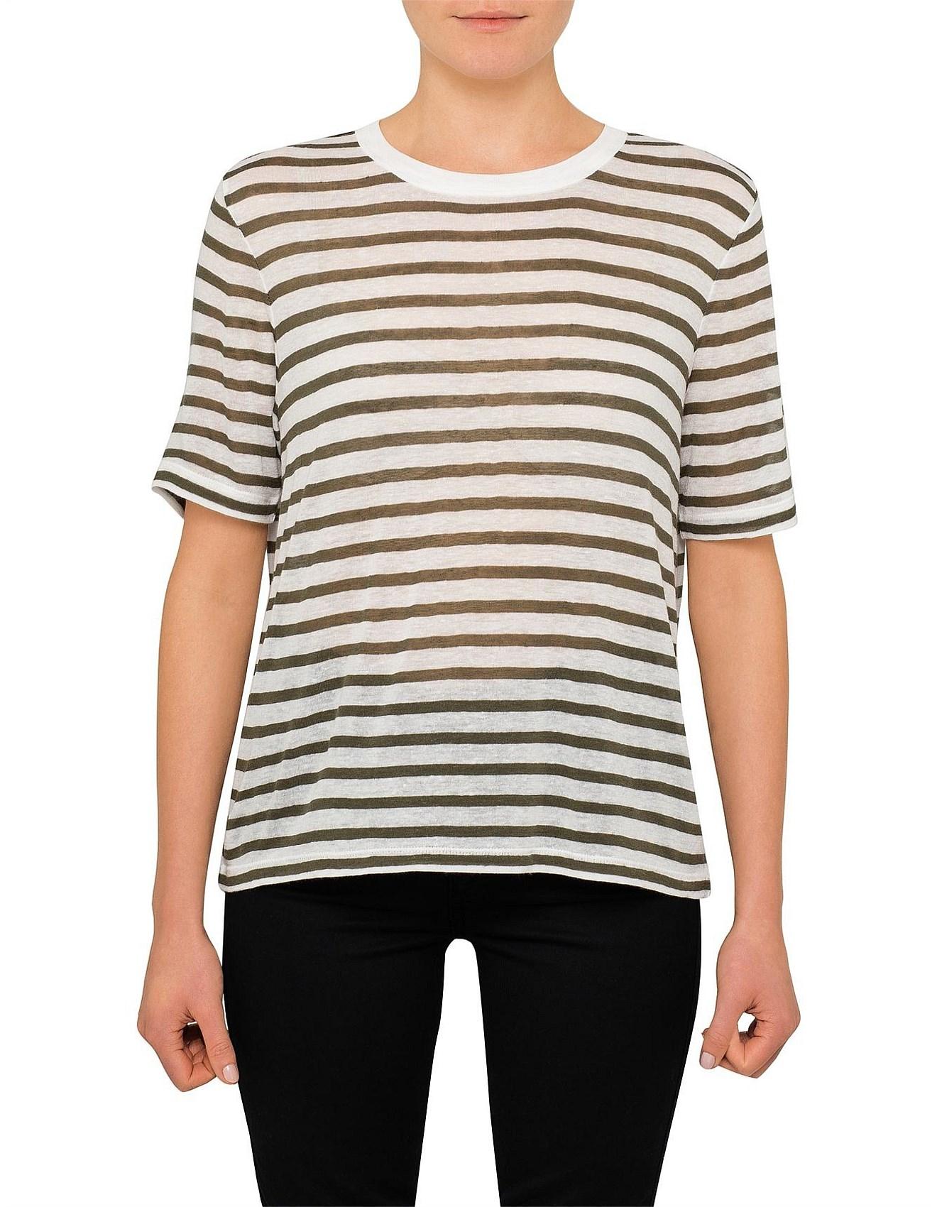 eb4fc5cd Tops, Tees & T-Shirts - Striped Slub Jersey Tee