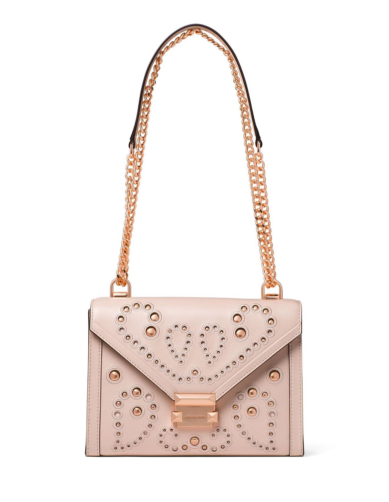 7c07ef9a2408 Whitney Large Embellished Leather Convertible Shoulder Bag. Zoom. Michael  Kors