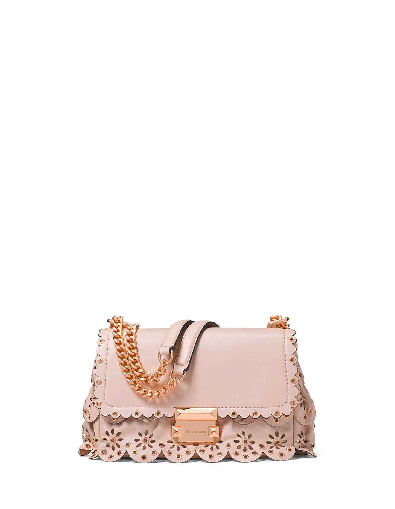 92ce06a15839 Sloan Small Floral Scalloped Leather Shoulder Bag