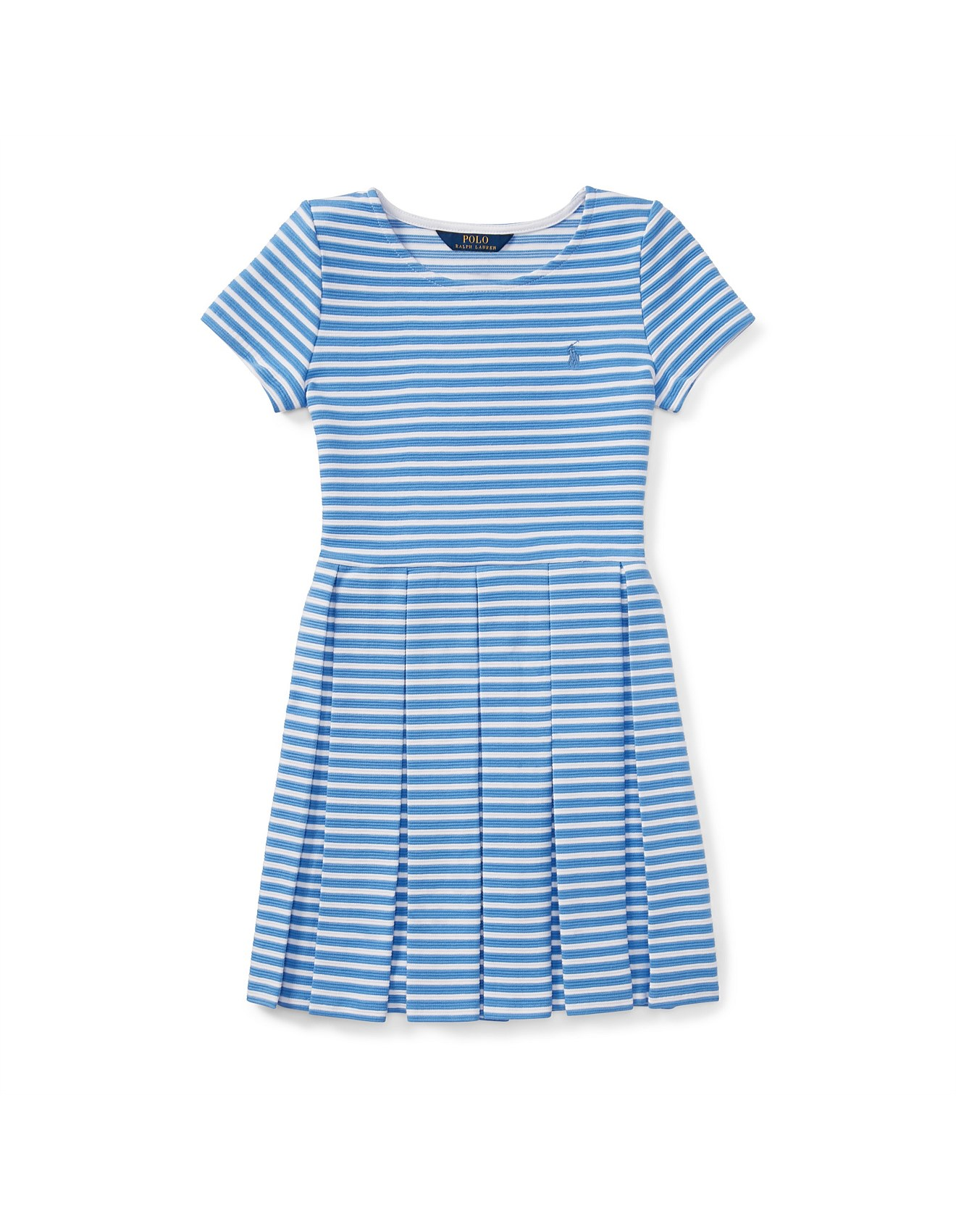 16be147a6 Striped Pleated Ponte Dress(8-14 Years). 1; 2. Zoom. Polo Ralph Lauren