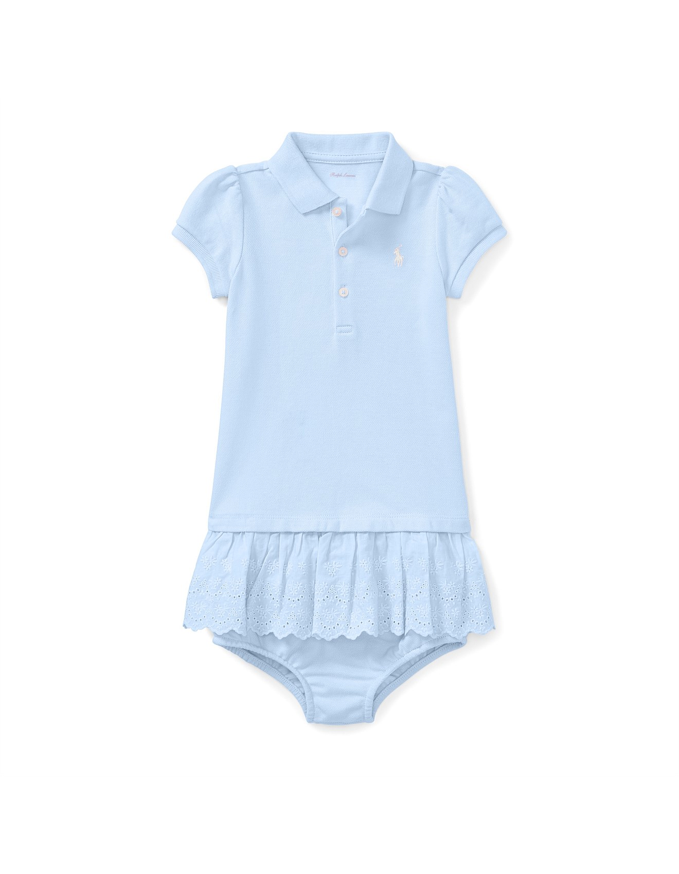 bbdb190940 Eyelet Polo Dress & Bloomer(6-24 Months)
