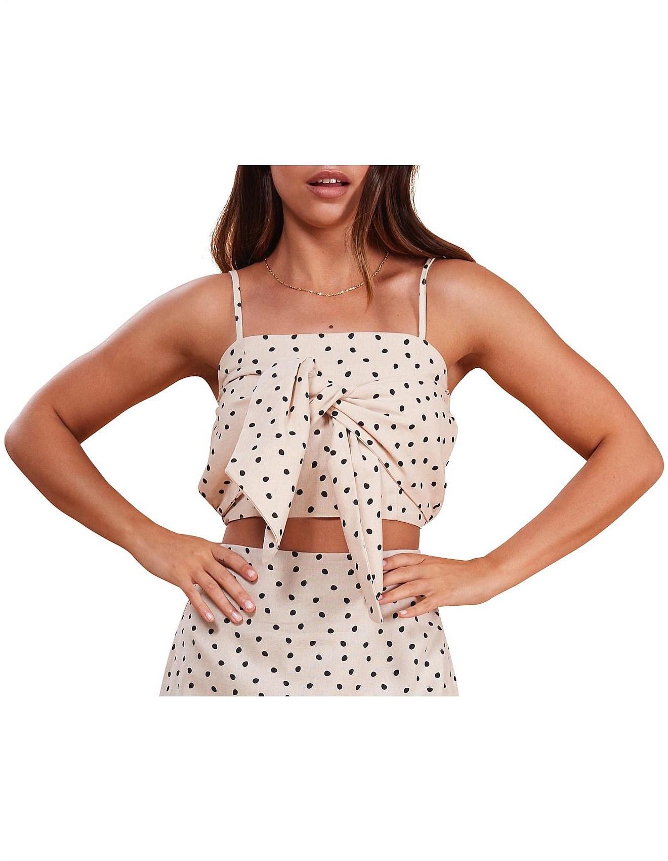 c9c6b386d48d Mink Pink | Buy Mink Pink Clothing Online | David Jones - PIP SPOT STRAPPY  BODICE