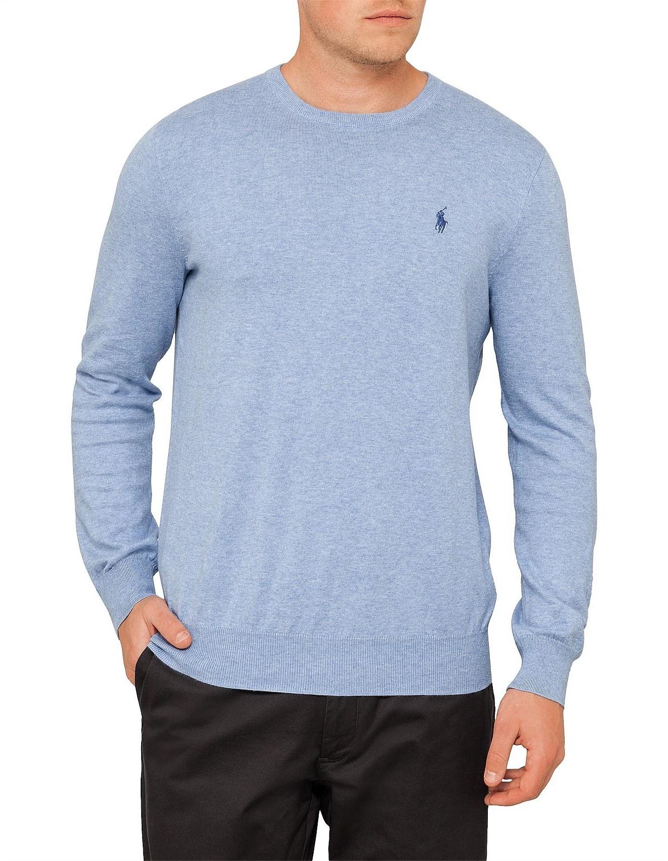 193bec8e Mens Long Sleeve Pima Cotton Sweater. 1; 2; 3; 4. Zoom. Polo Ralph Lauren