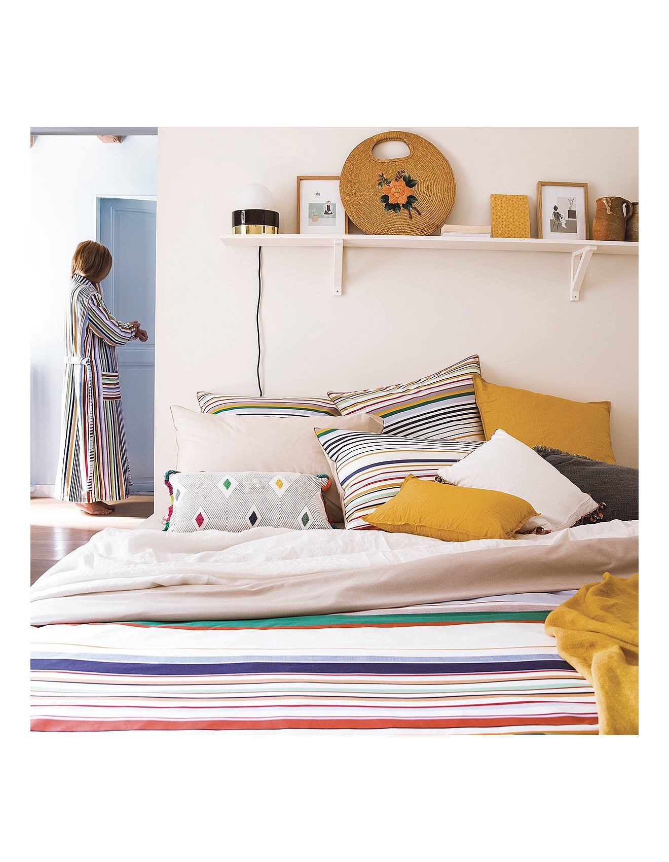 ANTONIO SINGLE BED FITTED SHEET 94X200