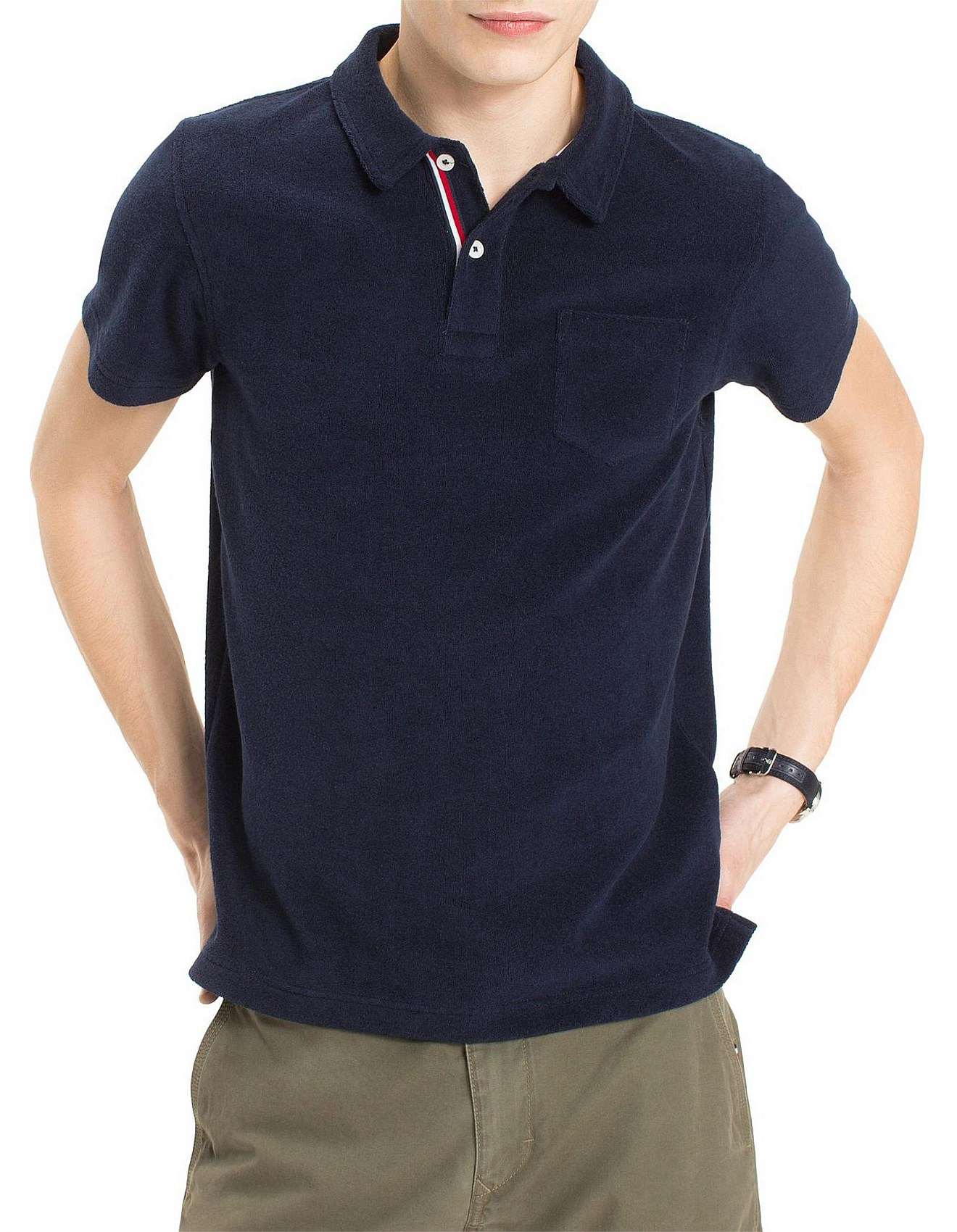 64561c40 Men's Polo Shirts Sale | Buy Polo Shirts Online | David Jones - TOWELLING SLIM  POLO