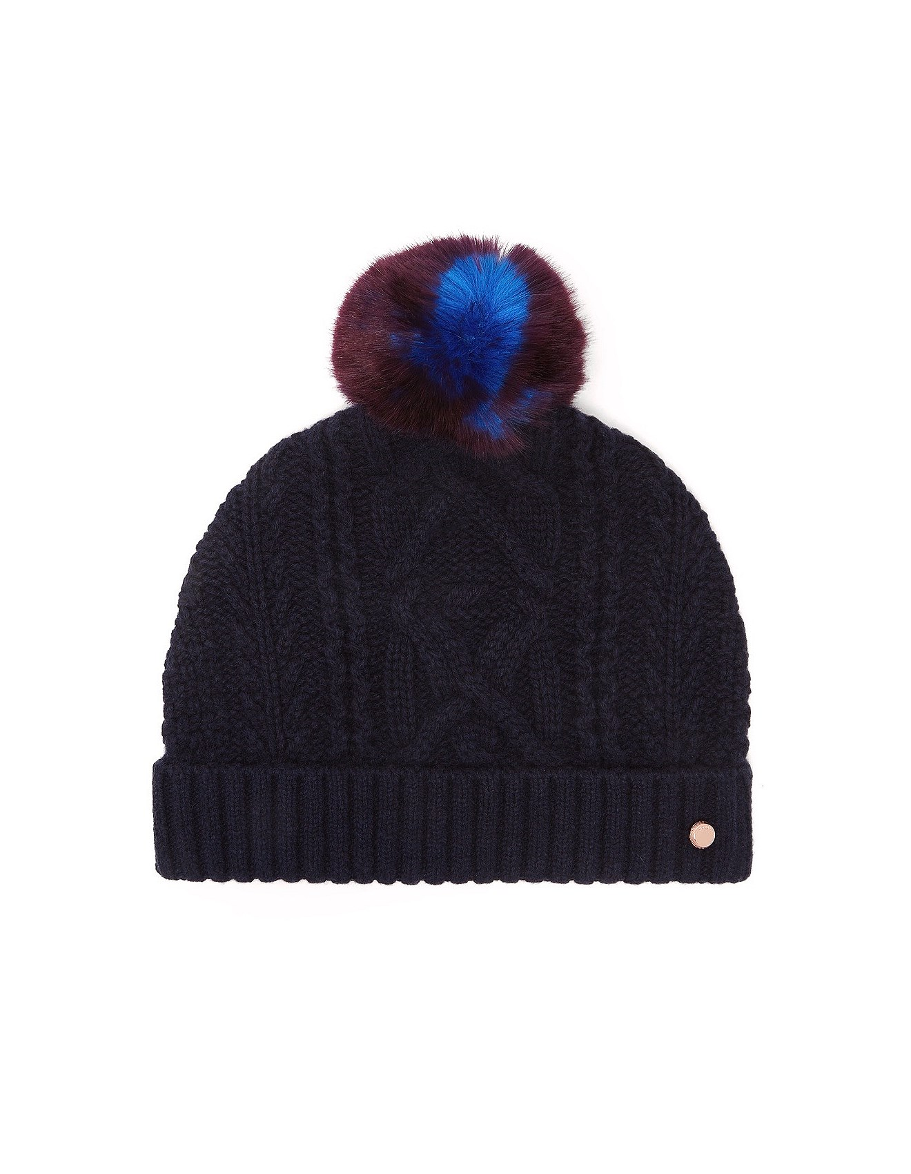 CABLE KNIT BOBBLE HAT efdbebf6471