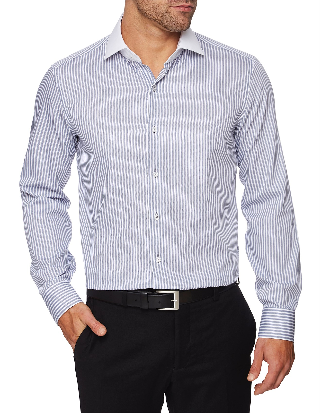 e7e2e24a56a Dress Shirts - Brooklyn Stripe Shirt - Slim Fit